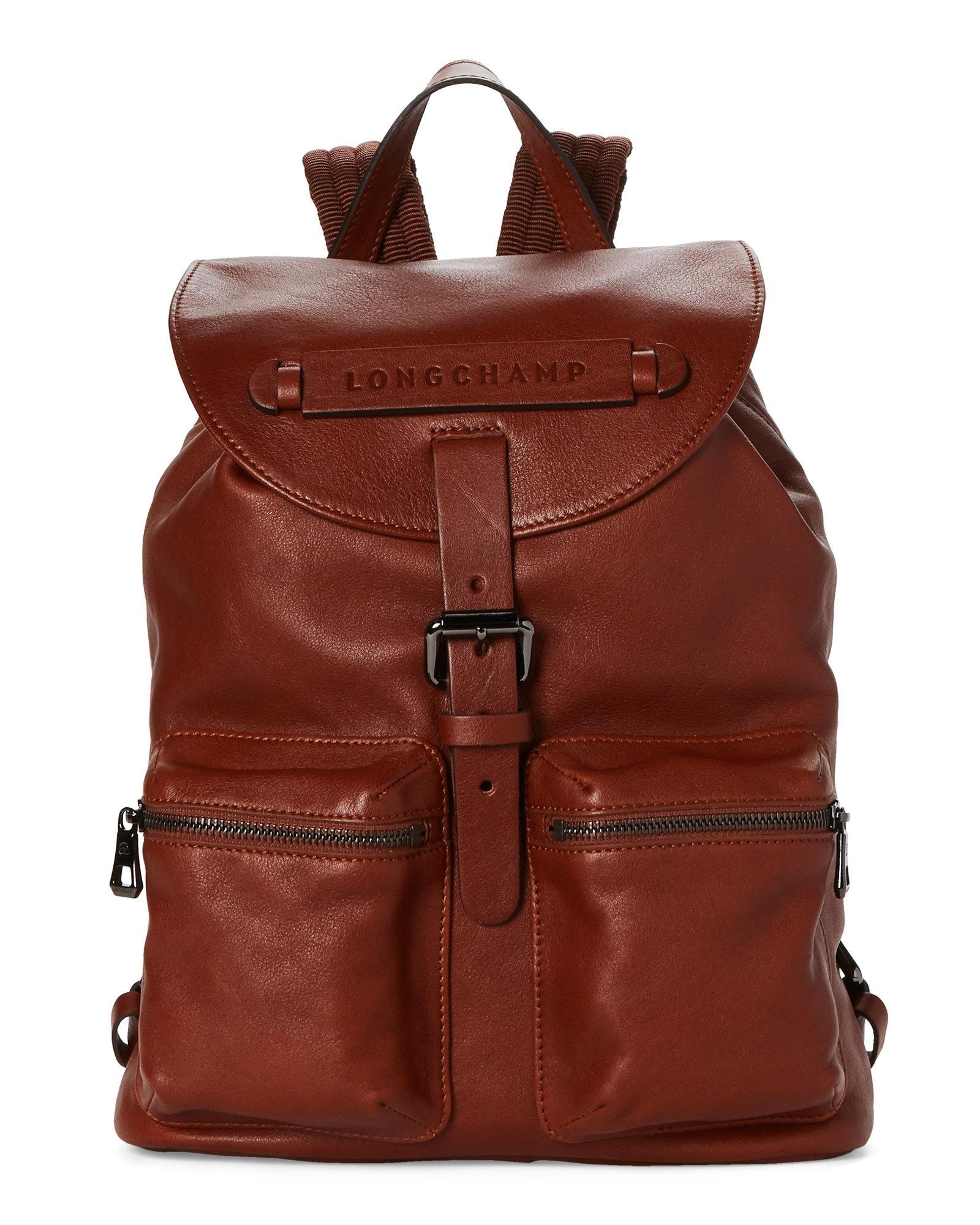 6b799df673d9 Lyst - Longchamp Brown 3d Small Leather Backpack in Brown
