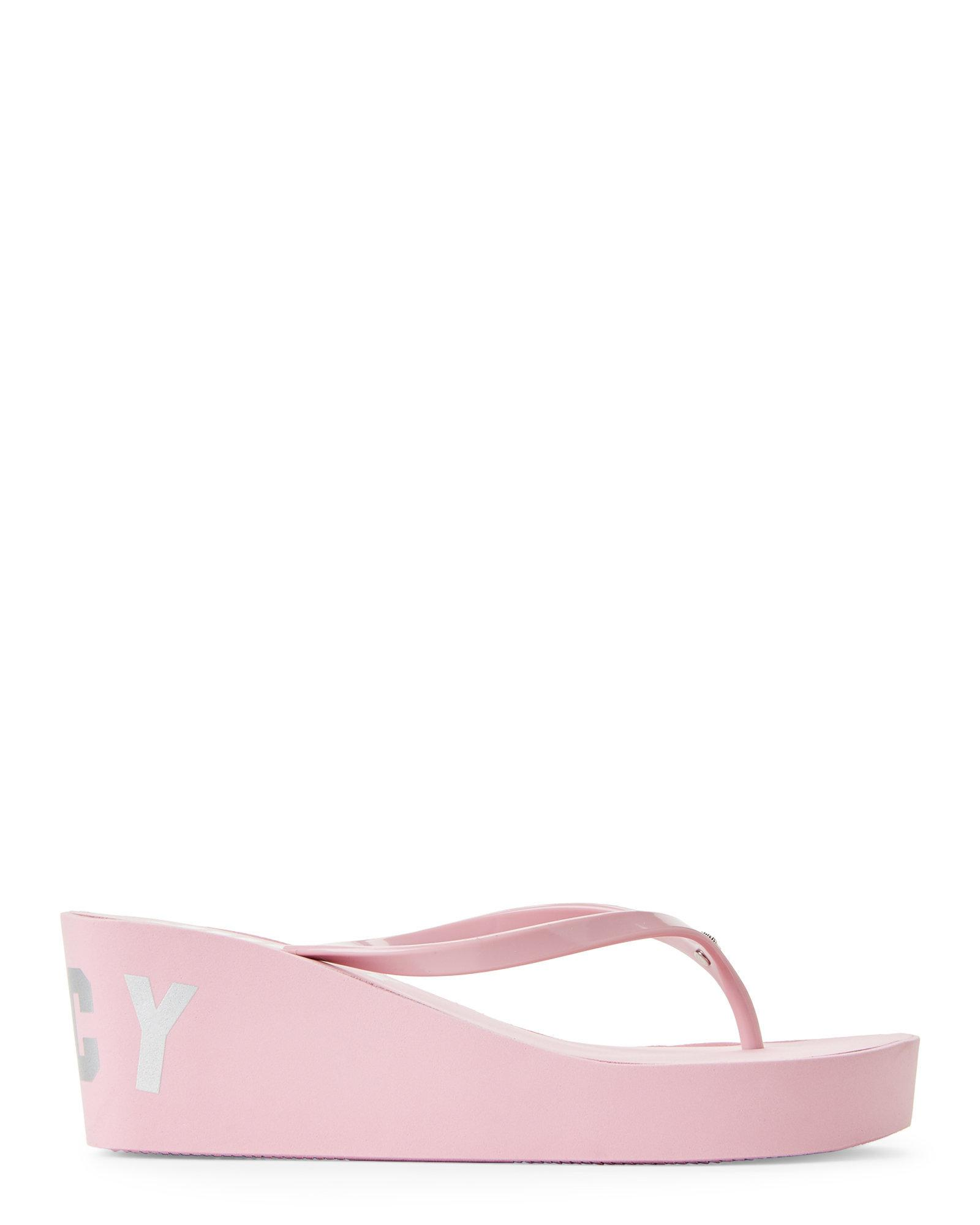 597c85a8f61 Lyst - Juicy Couture Dusty Pink Naomi Wedge Flip Flops in Pink