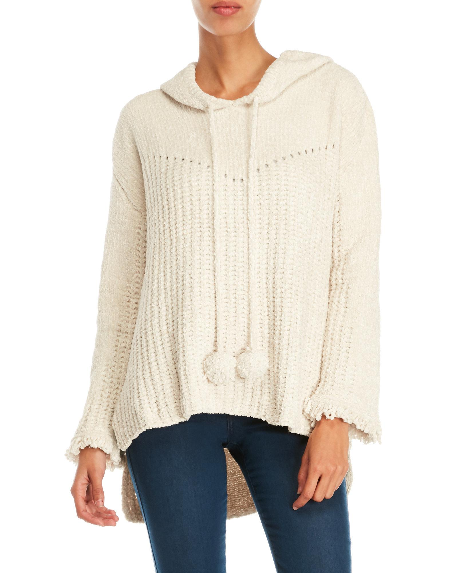 Pol Pom Pom Hooded Sweater in Natural | Lyst