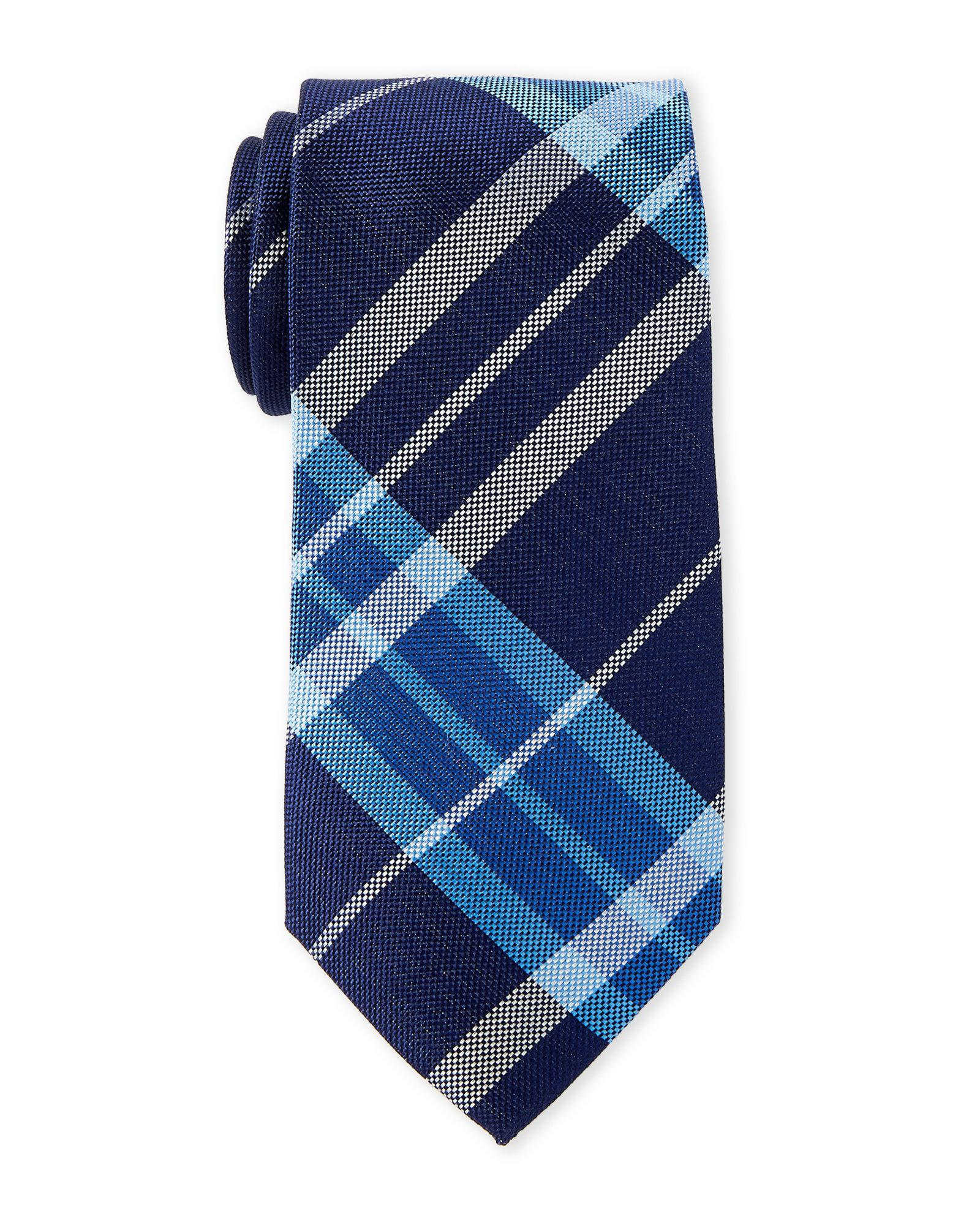 9e16c230f93f Lyst - Tommy Hilfiger Blue Exploded Check Silk Tie in Blue for Men