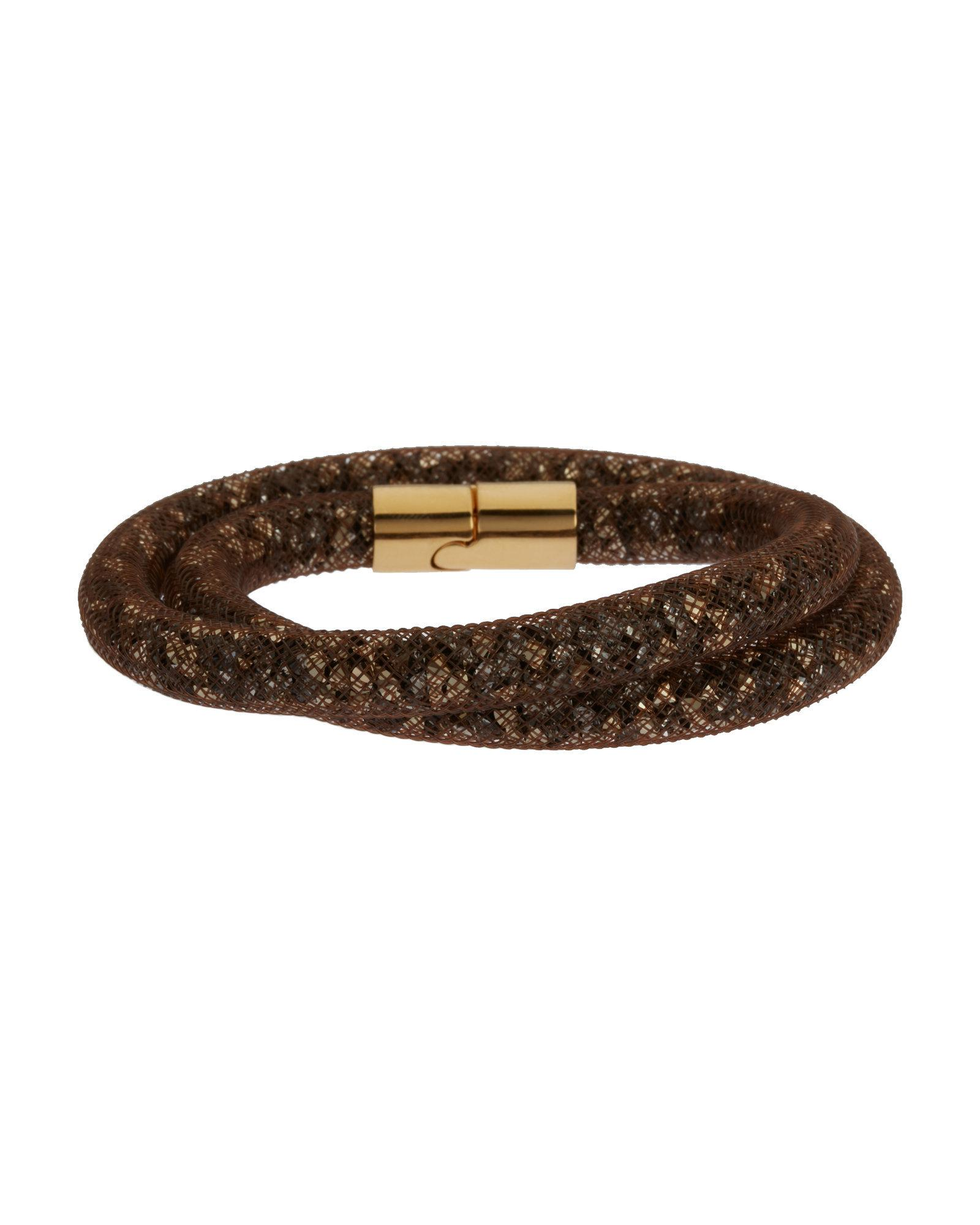 2ad3b42e5fb89 Lyst - Swarovski Brown Stardust Double Wrap Bracelet in Brown