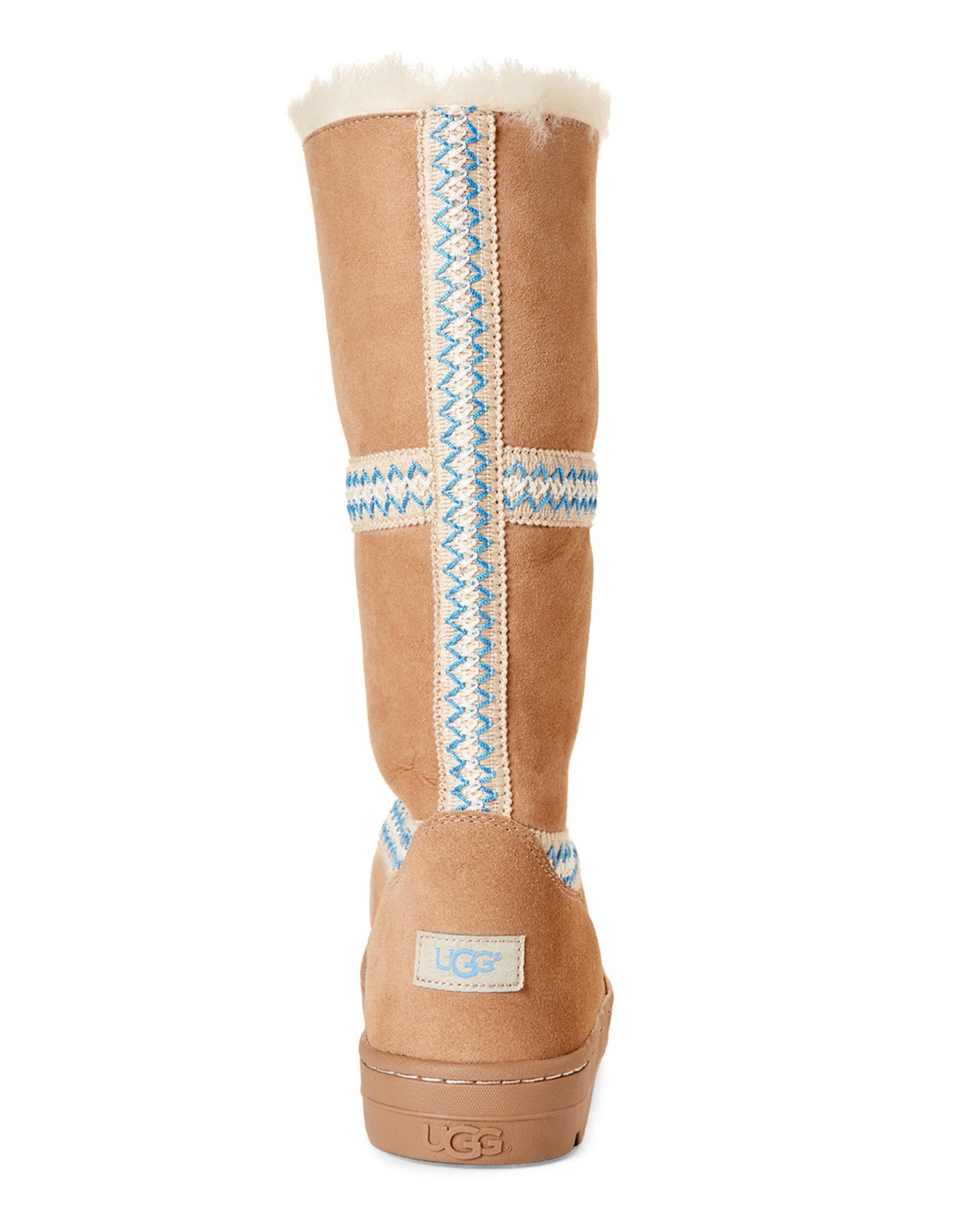 e81f5d3356a UGG Sand Sundance Revival Real Fur Boots in Natural - Lyst