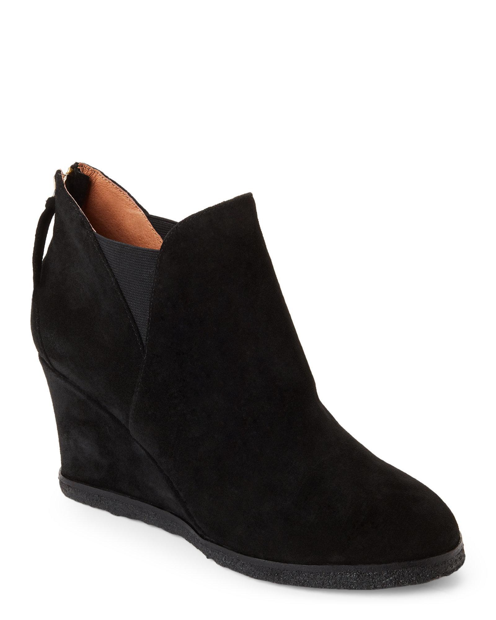 9478b143459 Lyst - Bettye By Bettye Muller Black Zap Wedge Booties in Black