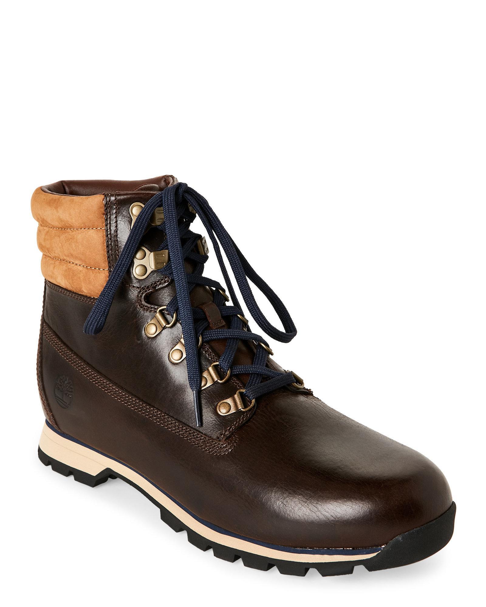 Men Timberland Hutchington Hiker Boots Dark Brown