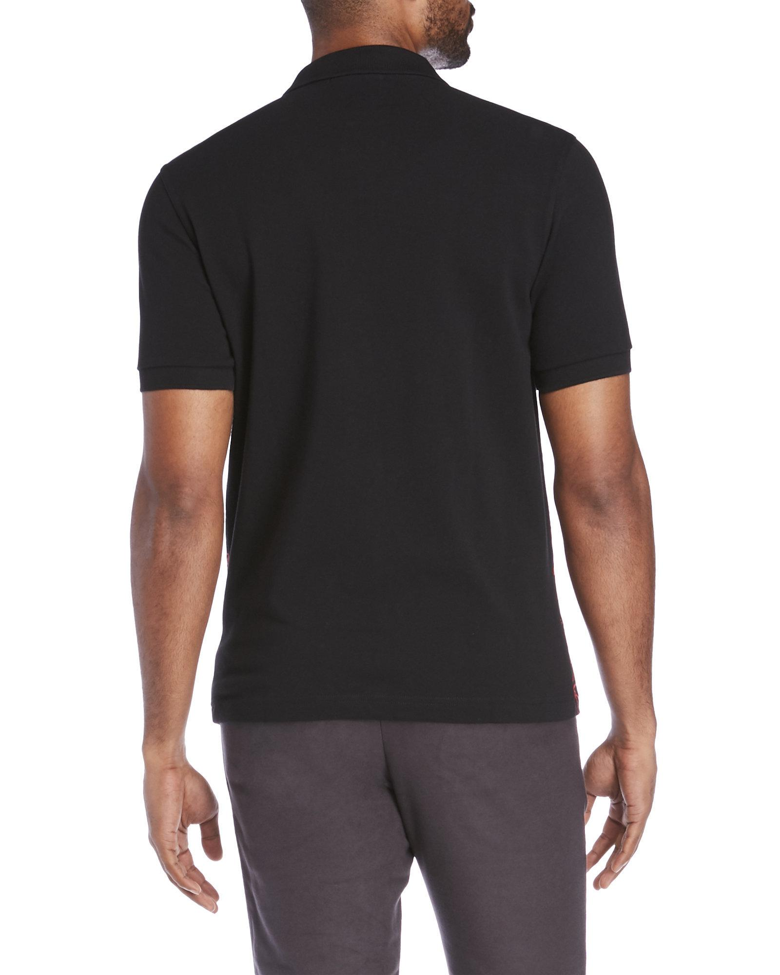 383c3453436a46 Lyst - Fred Perry Soho Neon Laurel Polo in Black for Men