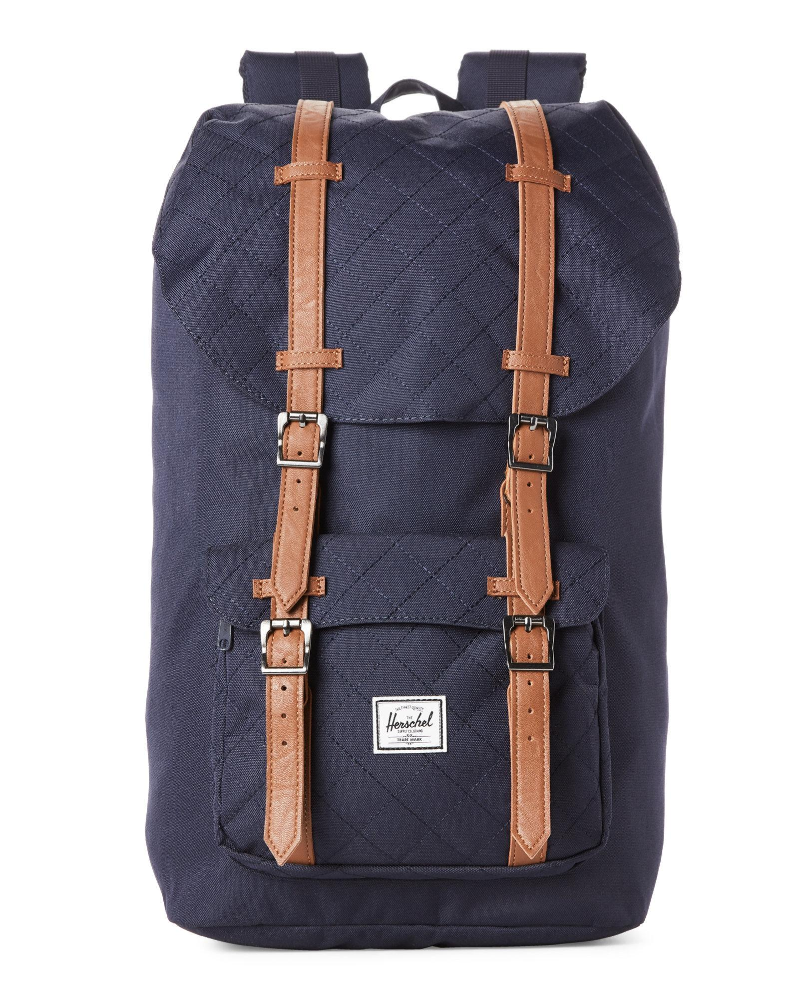 02836cf81e Lyst Herschel Supply Co Peacoat Little America Quilted Backpack