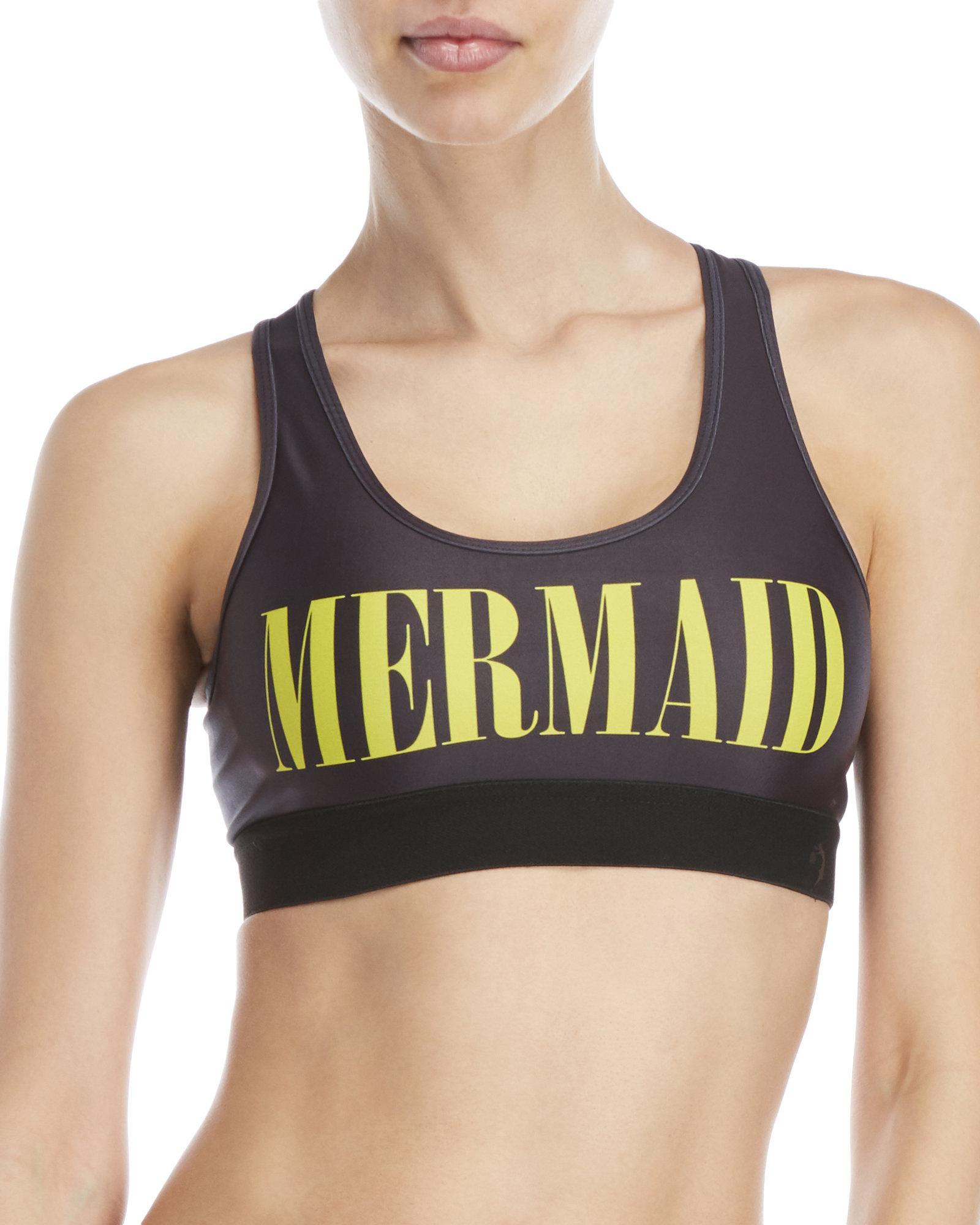 d54d3c0a81 Lyst - Chrldr Mermaid Graphic Sports Bra in Black