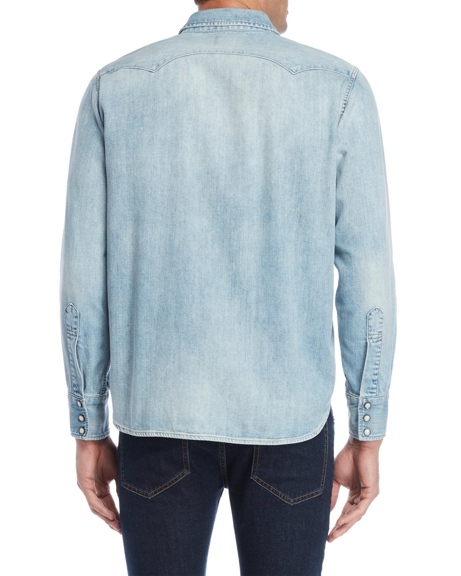 cbe1cc4ee0 Lyst - Levi s 1955 Sawtooth Western Denim Shirt in Blue for Men