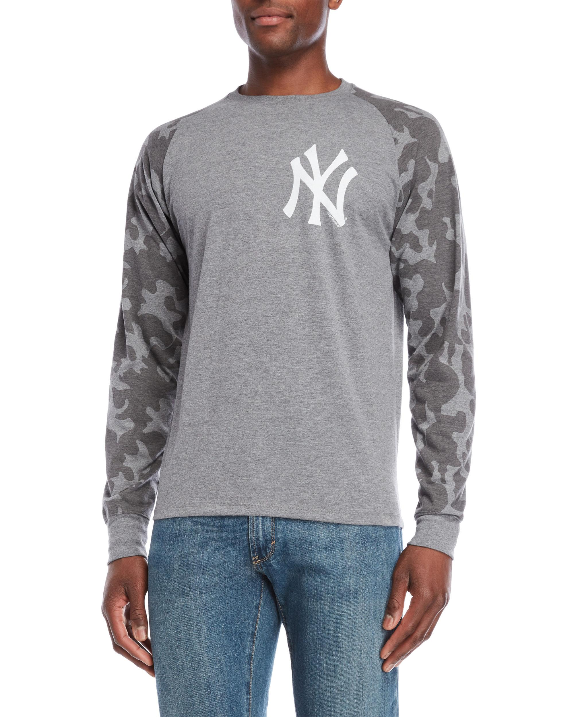 dcb6a538 Lyst - 47 Brand Grey Camo Raglan Sleeve Yankees Tee in Gray for Men