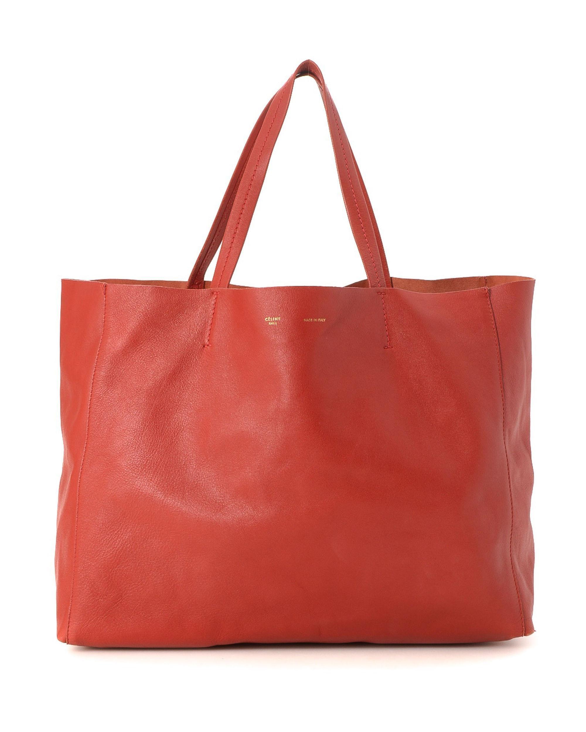 826d7bafa4 Lyst - Céline Cabas Horizontal Tote Bag - Vintage in Red