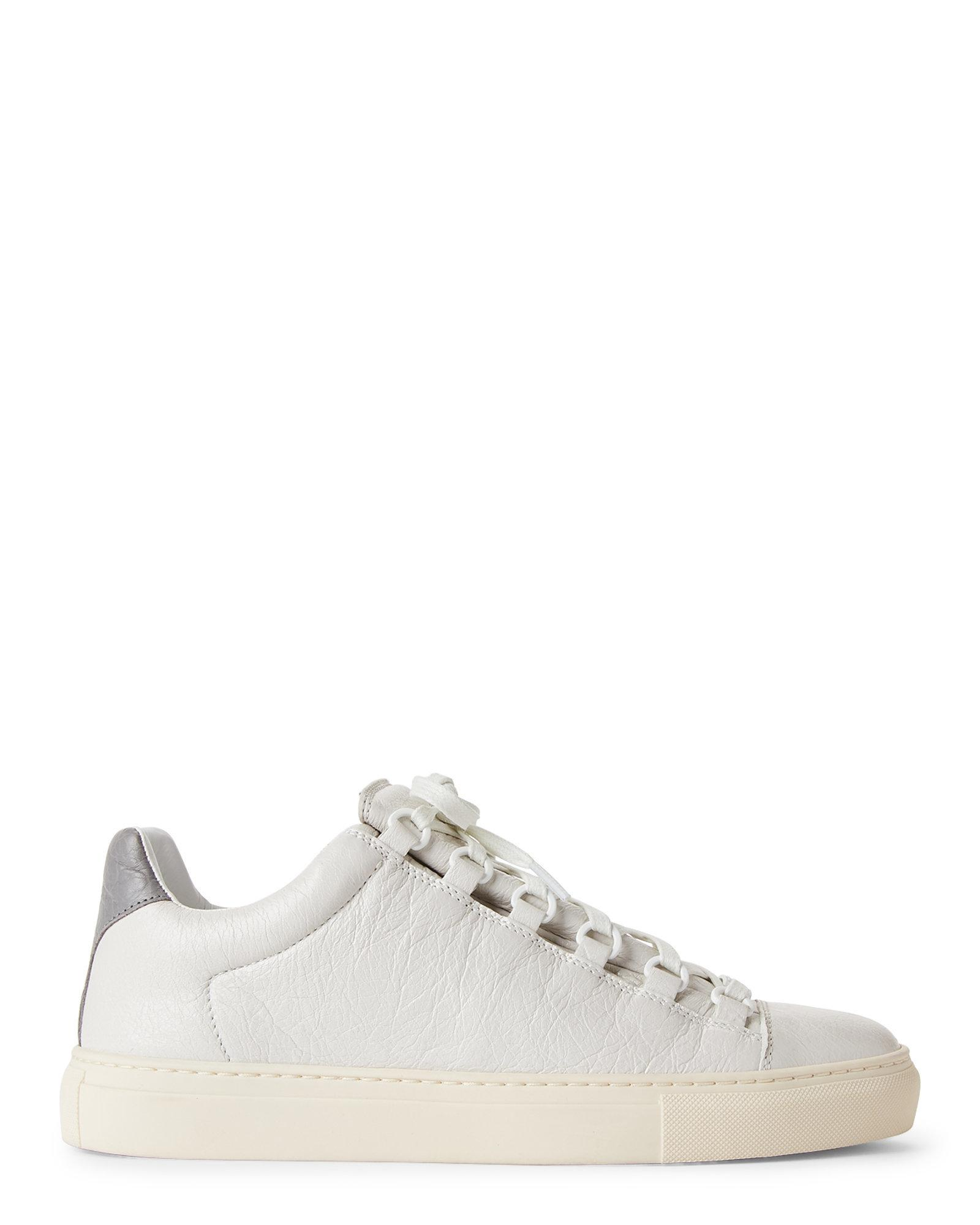 52f96b67a695 Lyst - Balenciaga Off-white   Grey Arena Bicolor Low-top Sneakers in ...