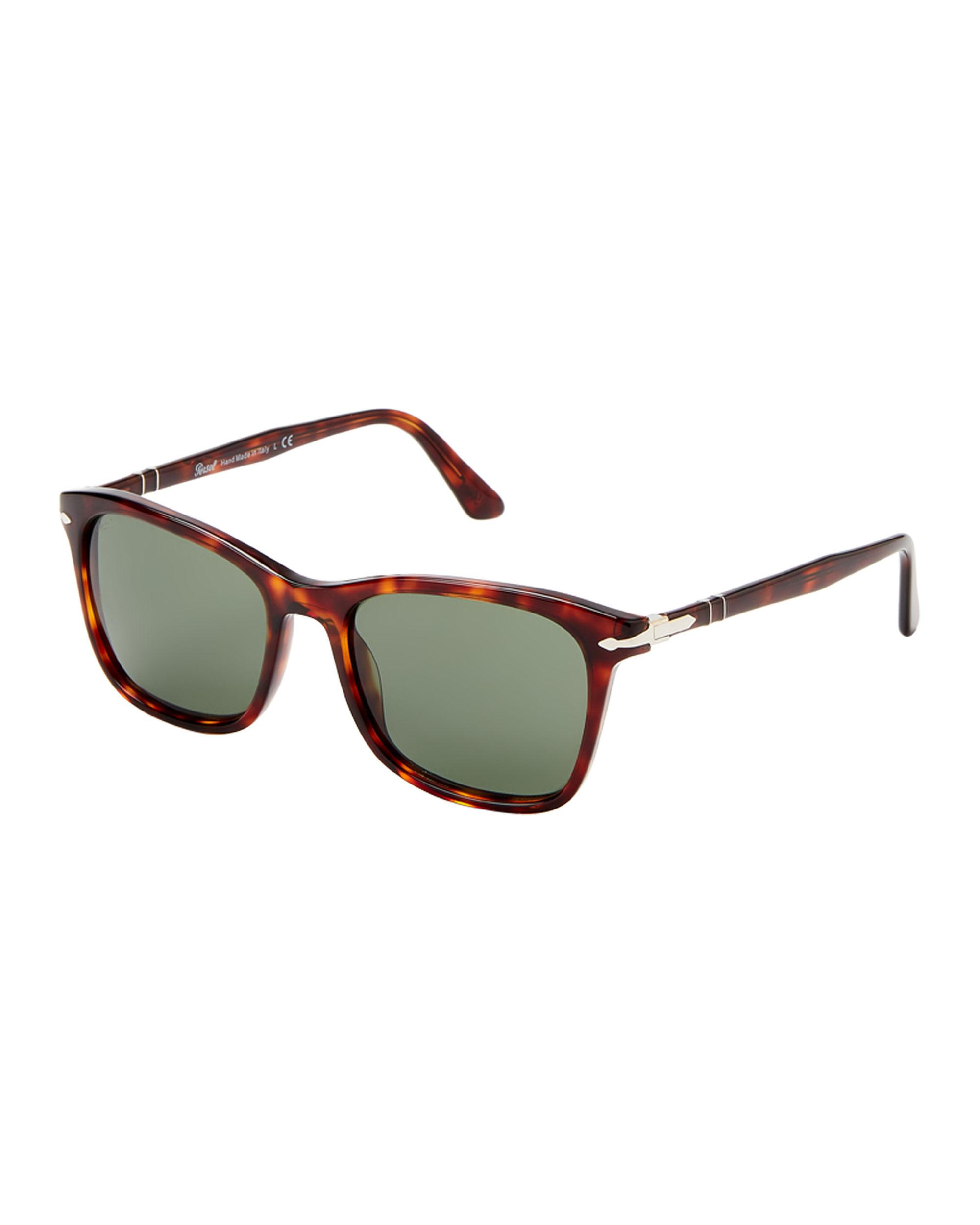 80f66f7dcbbaf Lyst - Persol Po3192-s Tortoiseshell-look Square Sunglasses in Brown ...