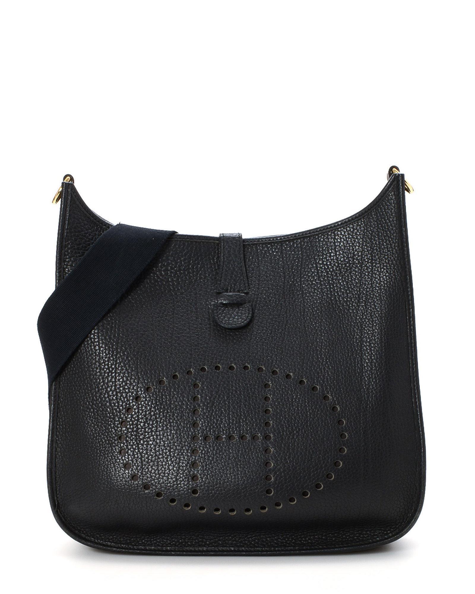 28e691269a ... 2 0b08e 58dec cheap lyst hermès evelyne iii 33 shoulder bag vintage in  black 7d3dc 351bf czech hermes black ...