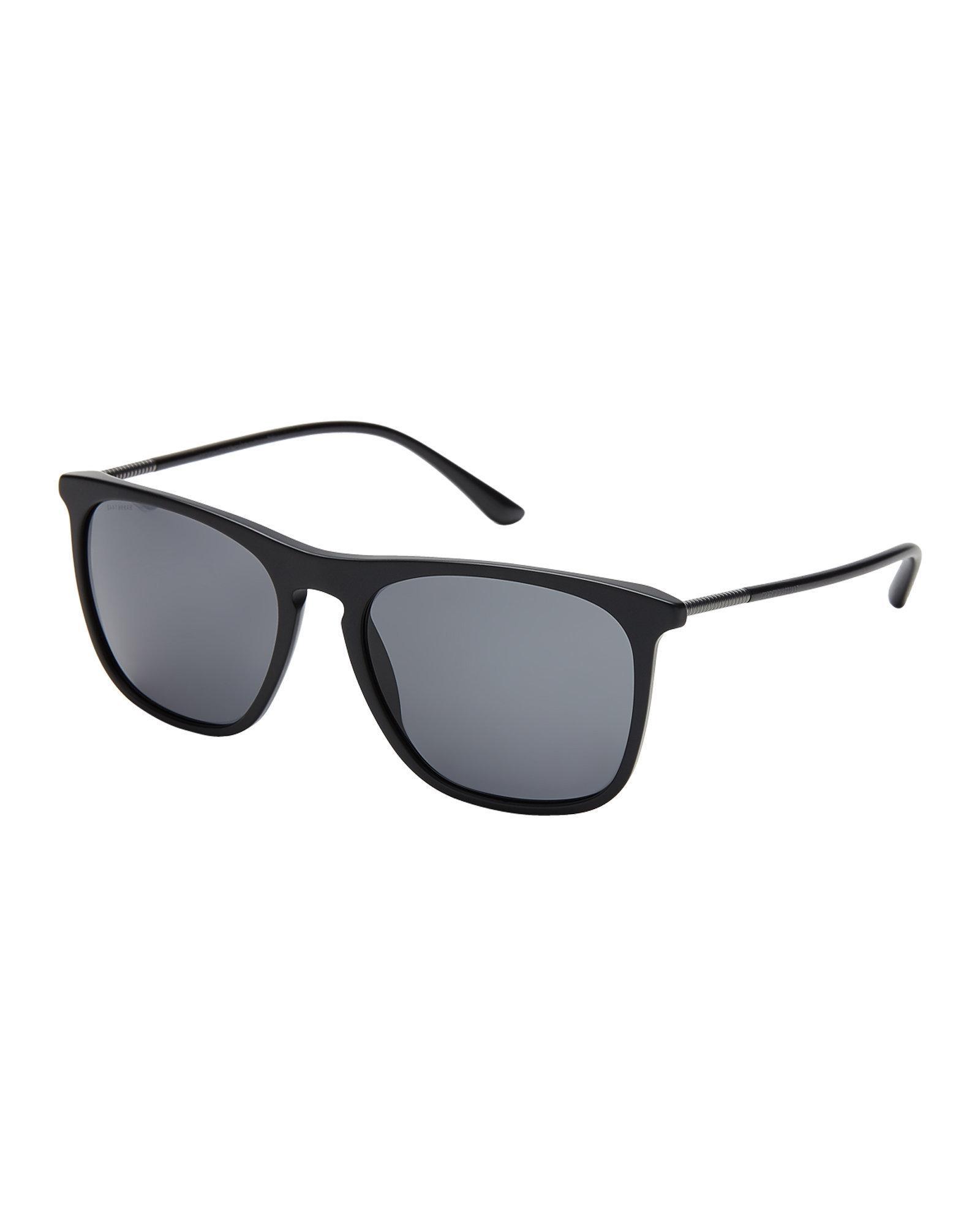 6110ca0ced5 Lyst - Giorgio Armani Ar8076 Matte Black Square Sunglasses in Black