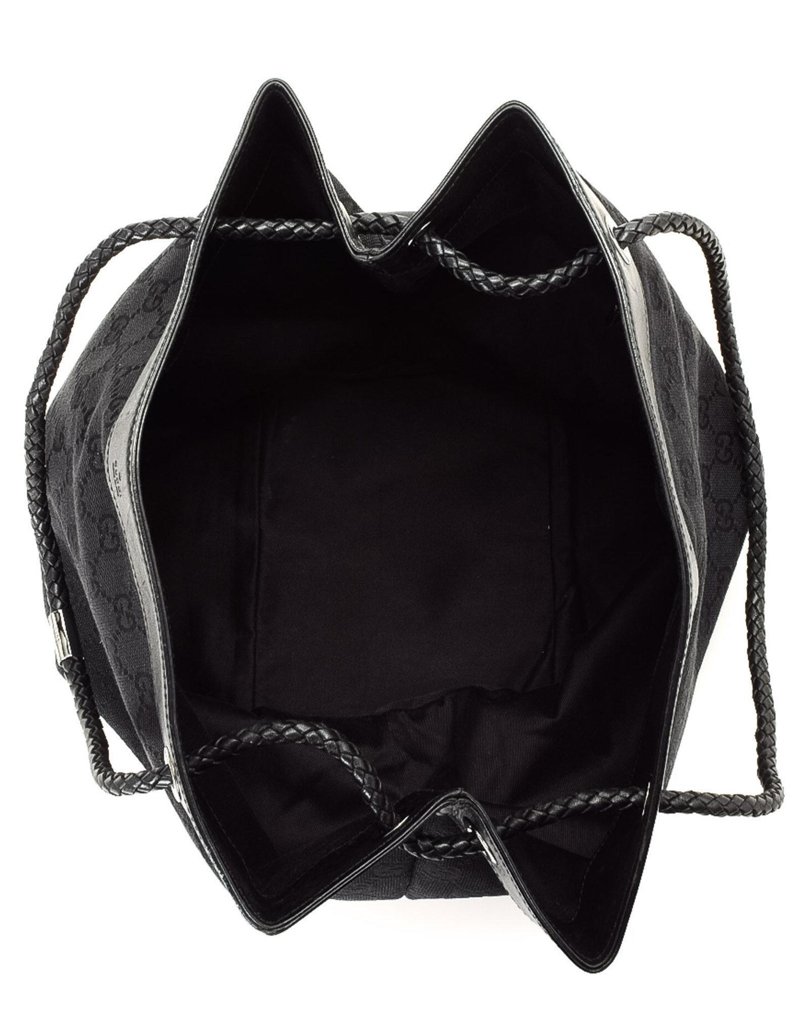 9f8484627f4 Lyst - Gucci Gg Canvas Tote Bag - Vintage in Black