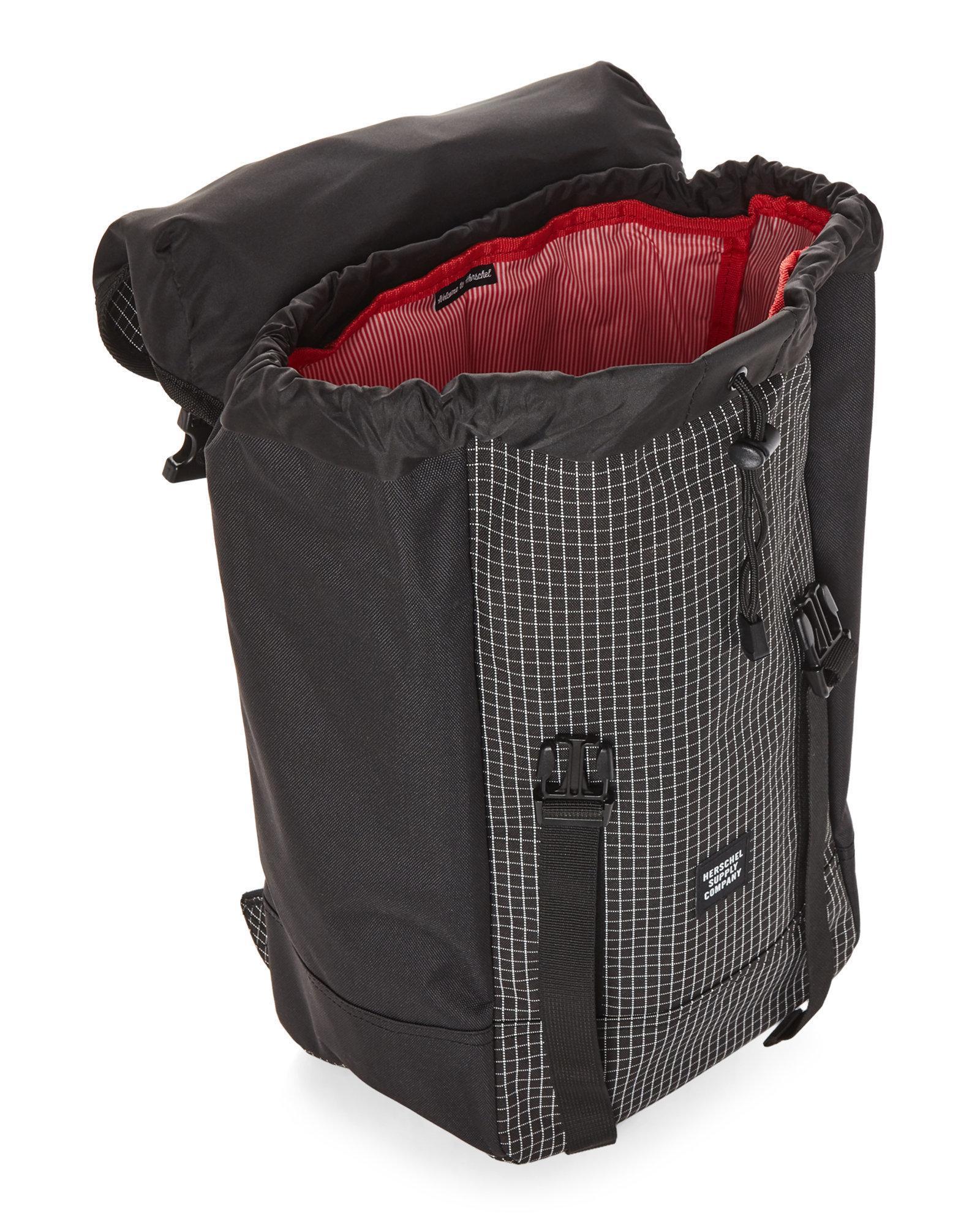 dae37666e0 Lyst - Herschel Supply Co. Black Iona Grid-print Backpack in Black ...