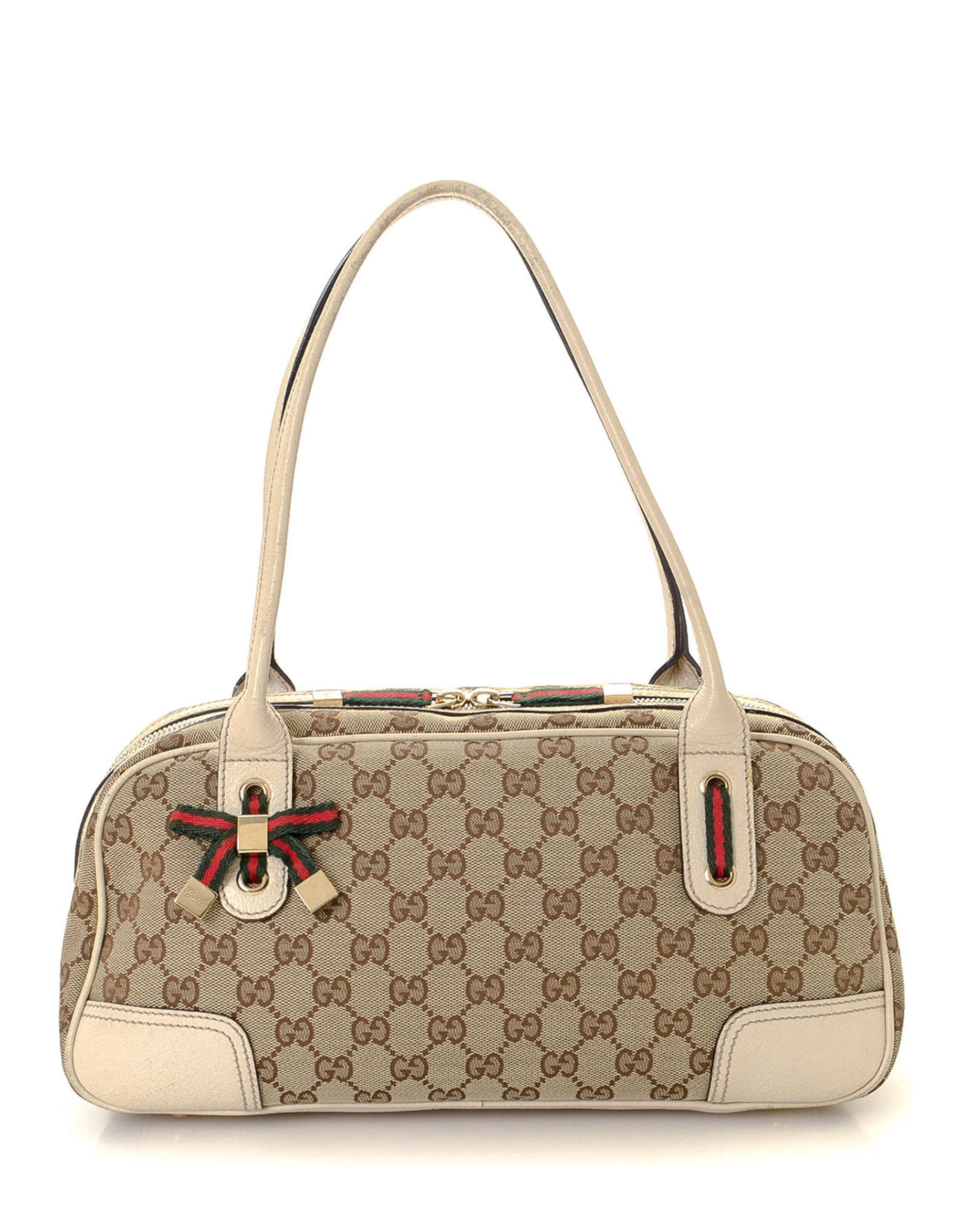 4a18fabf29b Lyst - Gucci GG Canvas Princy Shoulder Bag - Vintage in Natural