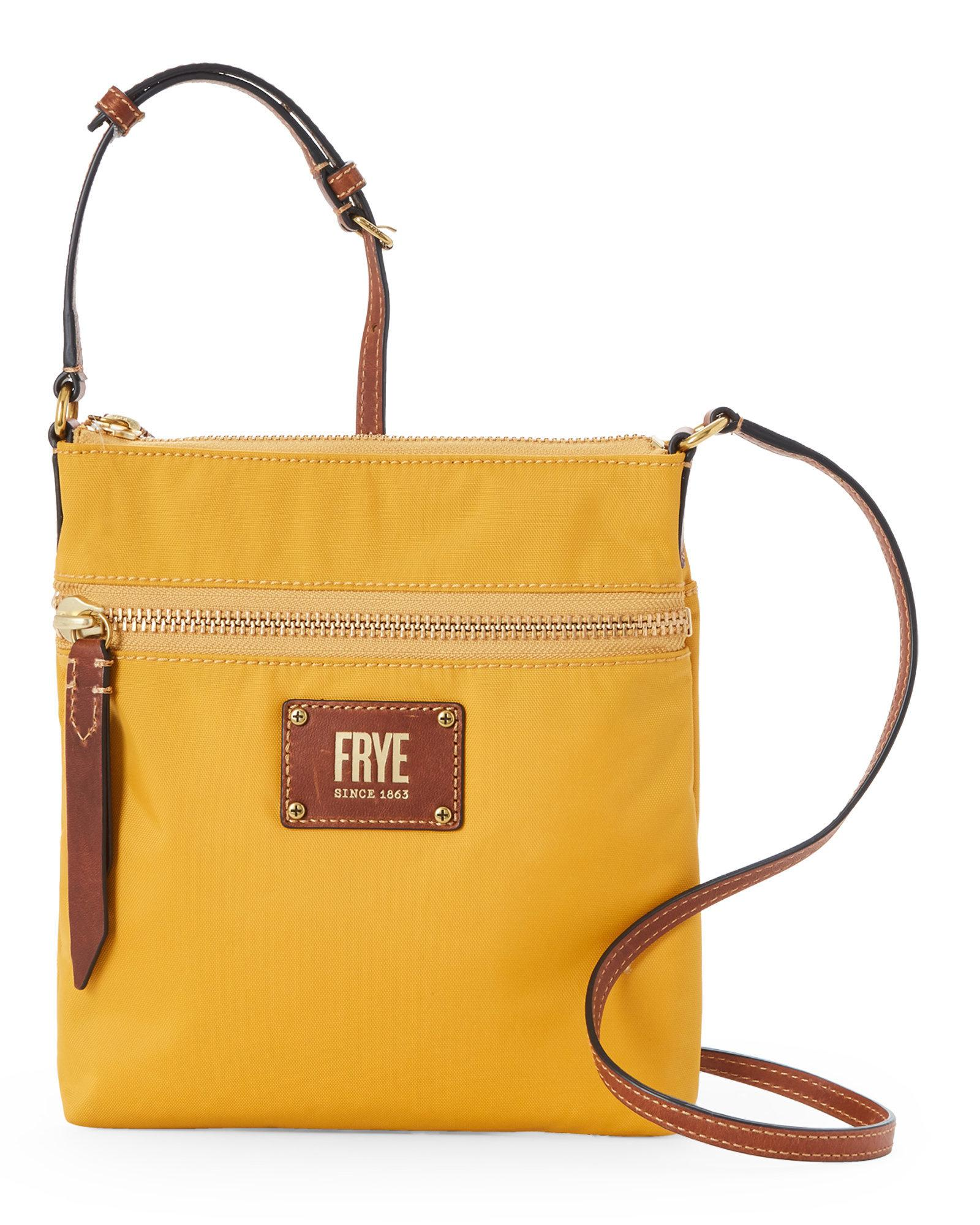 92ec2b8ec6e6 Lyst - Frye Yellow Ivy Nylon Crossbody in Yellow - Save ...
