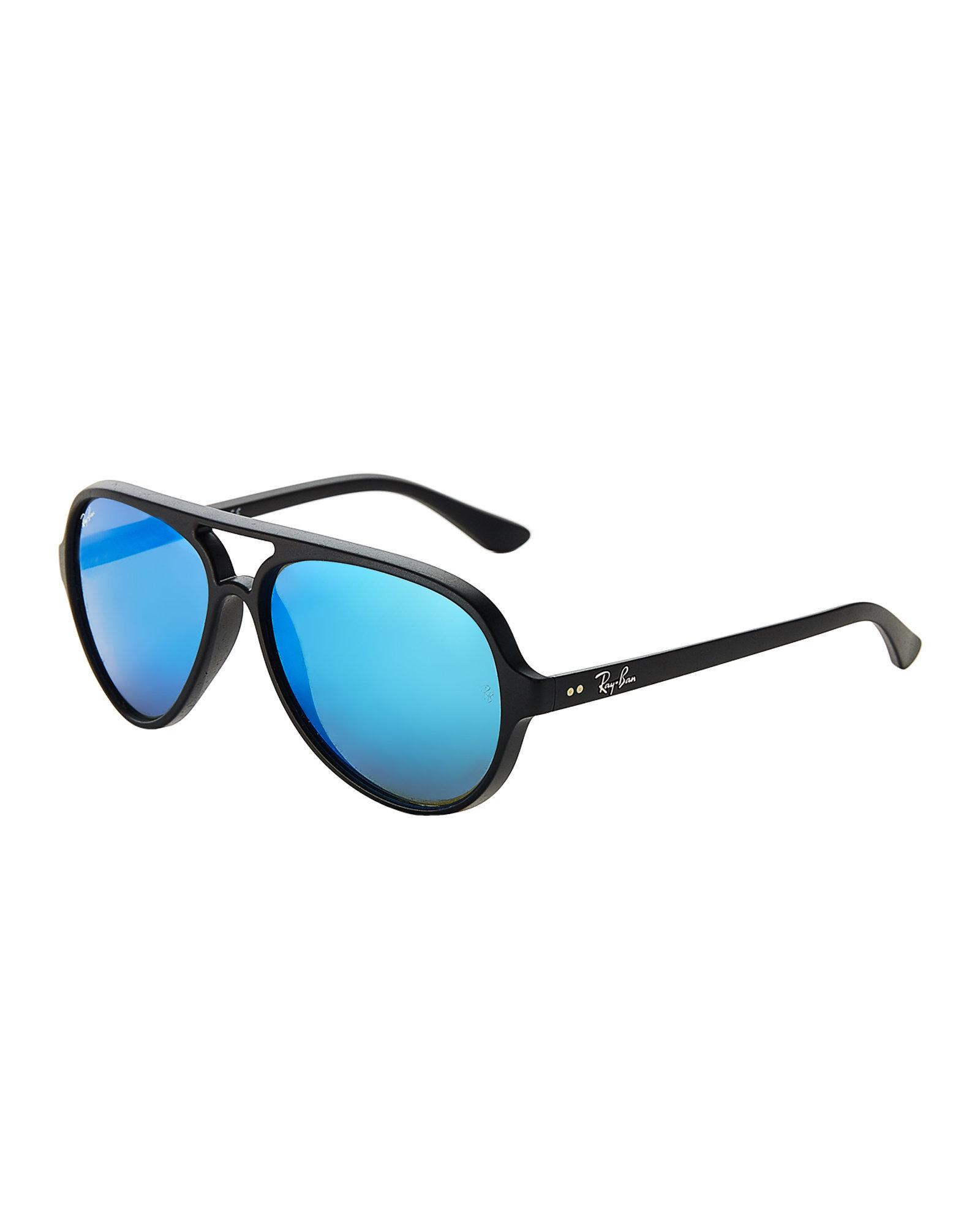 20900d4d3d Lyst - Ray-Ban Rb4125 Black Aviator Sunglasses in Black for Men