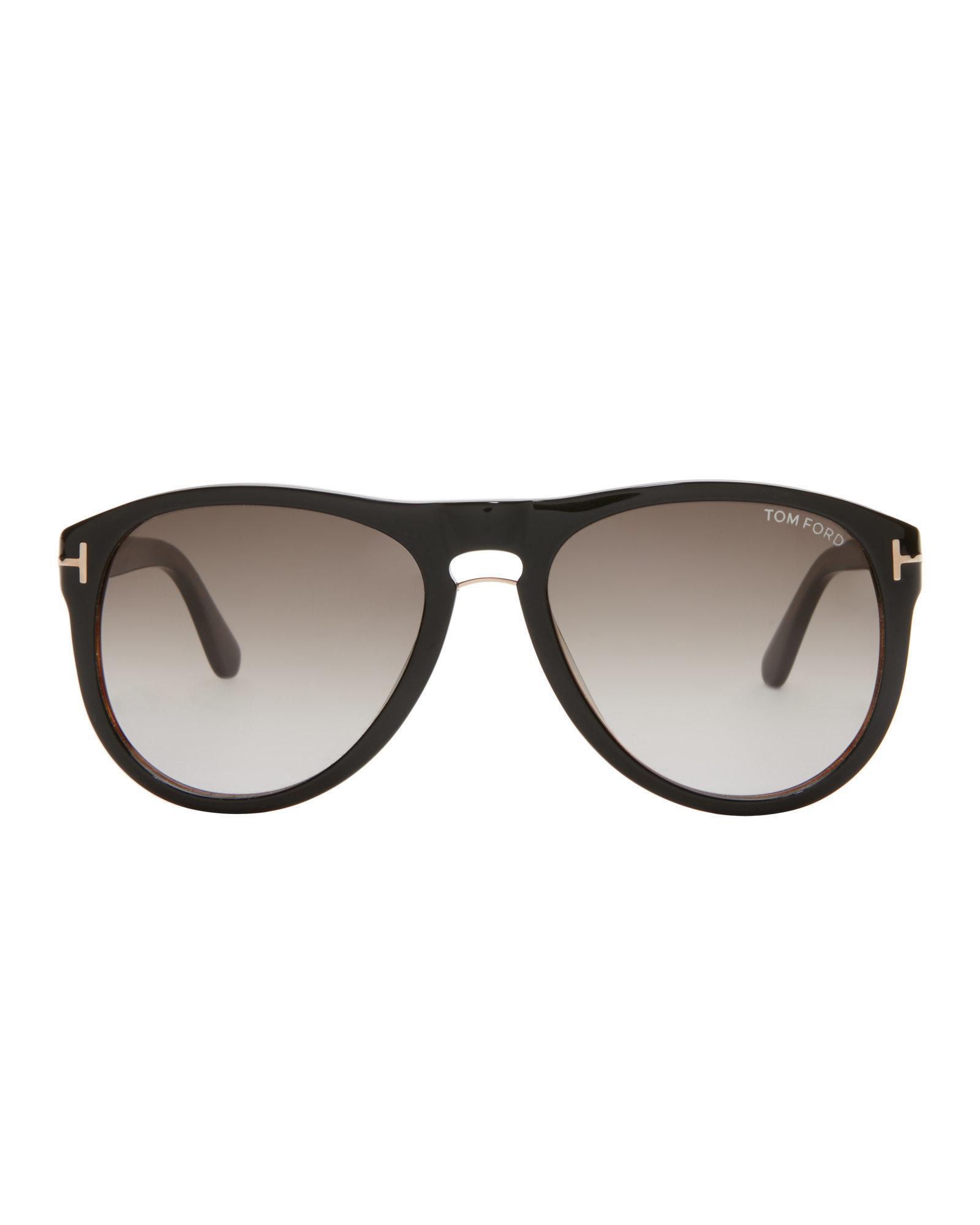 76c0cfa06d Lyst - Tom Ford Tf347 Black   Havana Kurt Aviator Sunglasses in ...