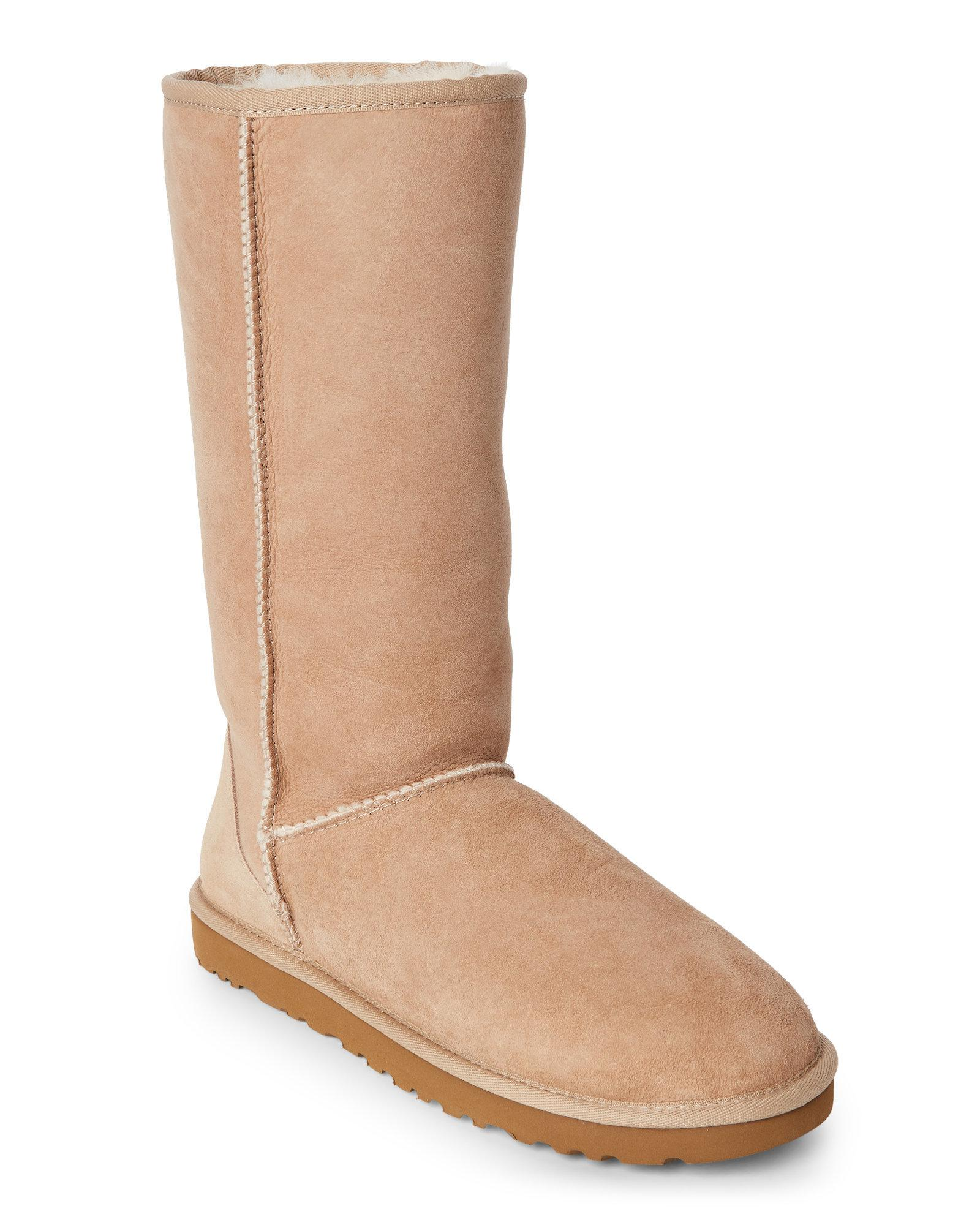 51f55fe4455 Lyst - UGG Sand Real Fur Classic Tall Boots in Natural