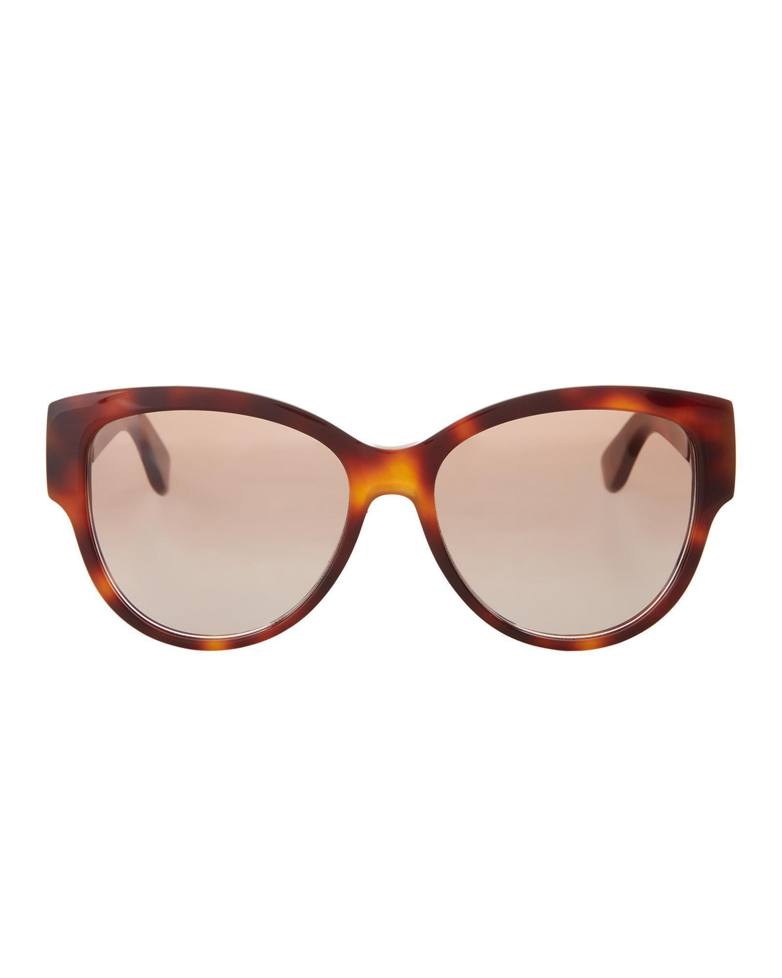 fc0c9efcec Lyst - Saint Laurent Slm3 Tortoiseshell-look Round Sunglasses in Brown