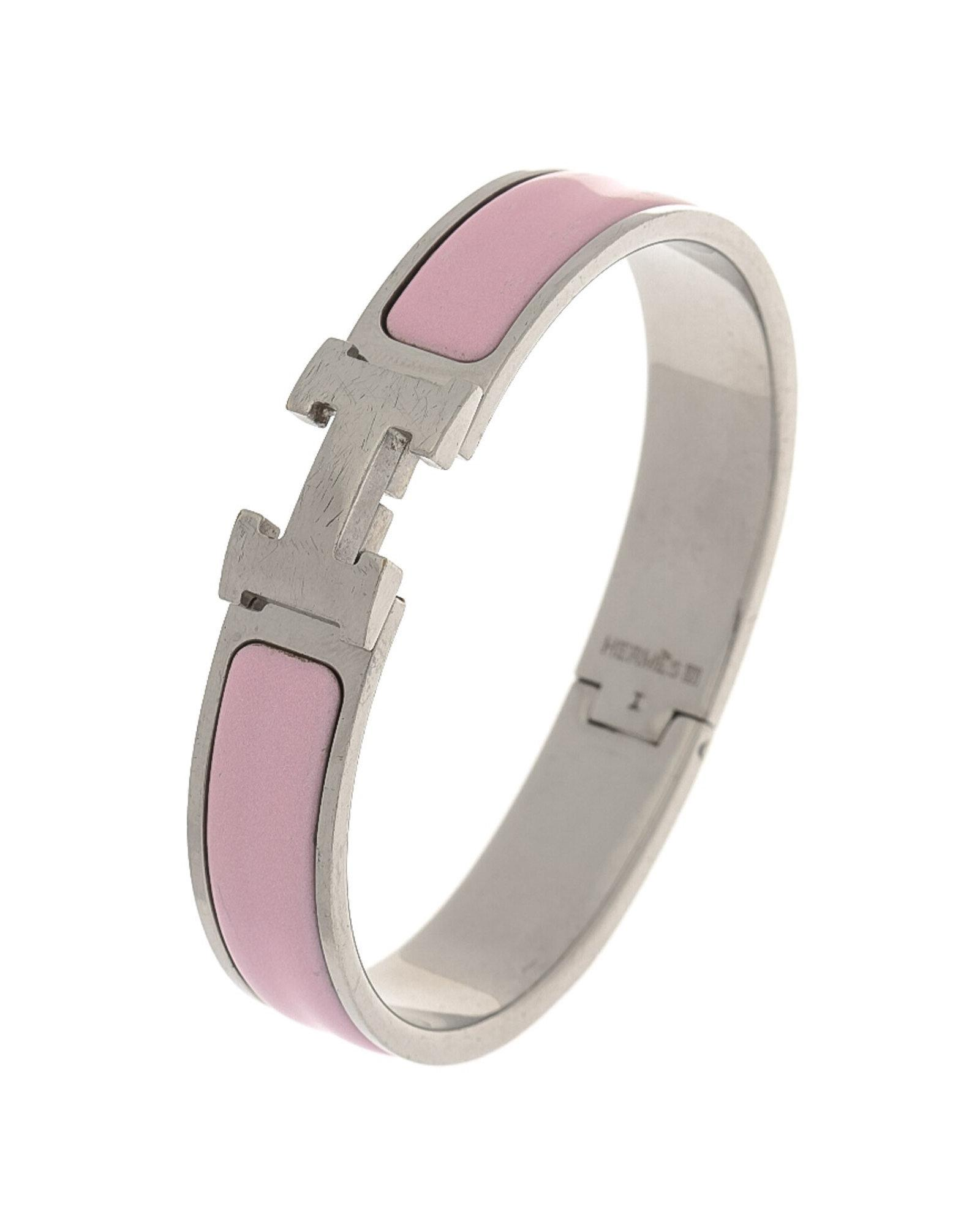 9fb85fecedf Hermès Clic Clac H Bangle - Vintage in Pink - Lyst