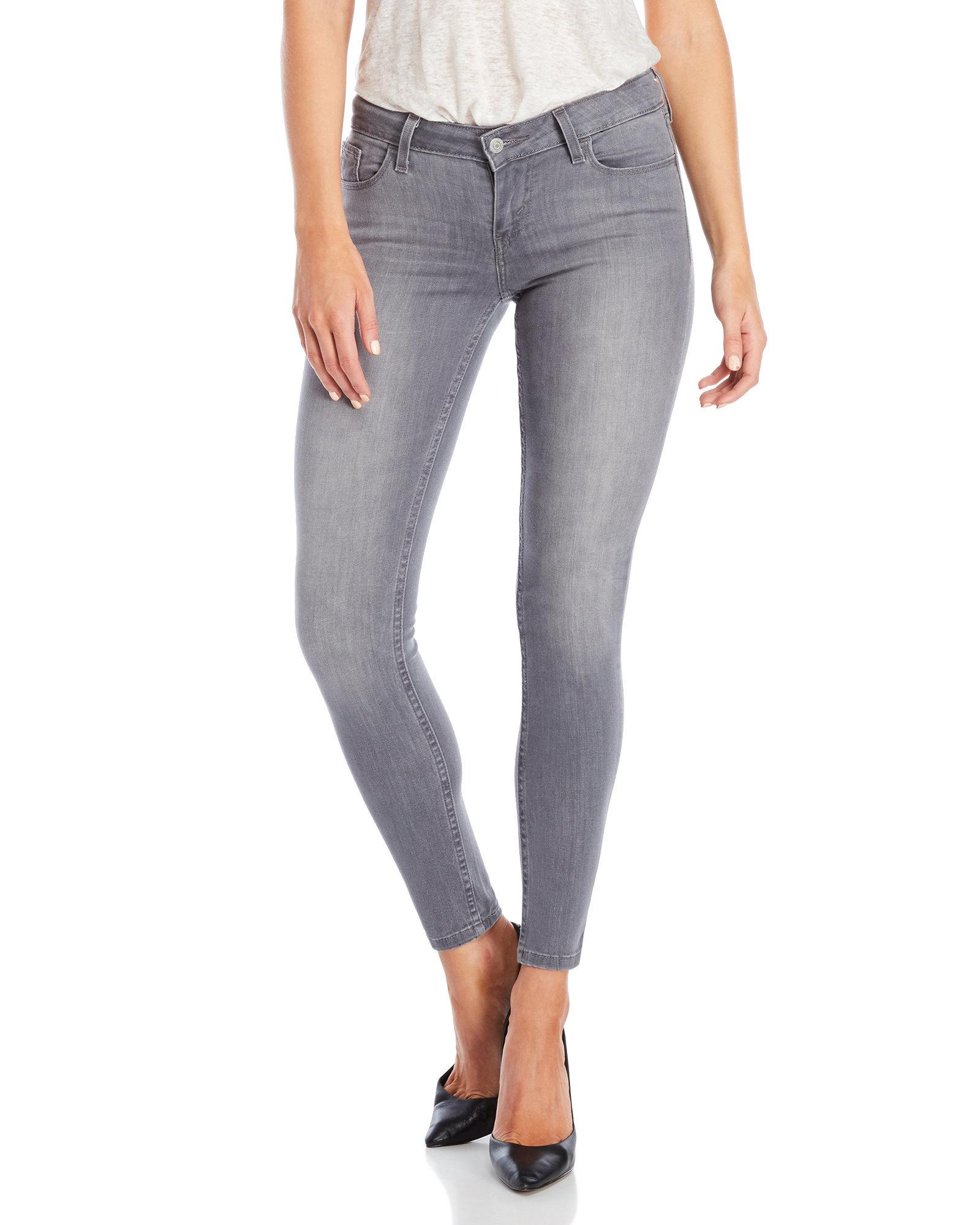 745627f2 Levi's 535 Super Skinny Jeans in Gray - Lyst