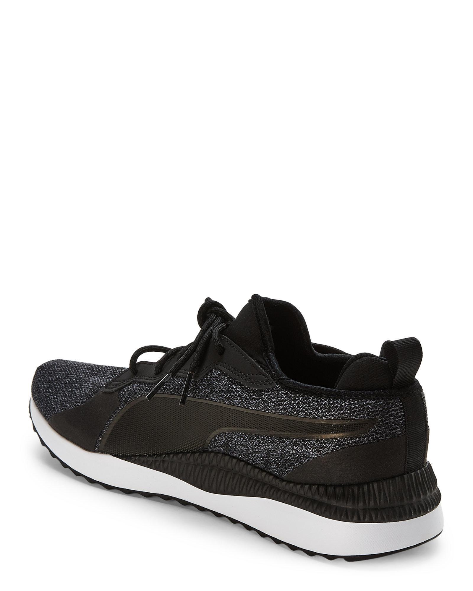 Lyst - PUMA Black   Grey Pacer Next Tw Knit Sneakers in Black for Men 4fd220cbf