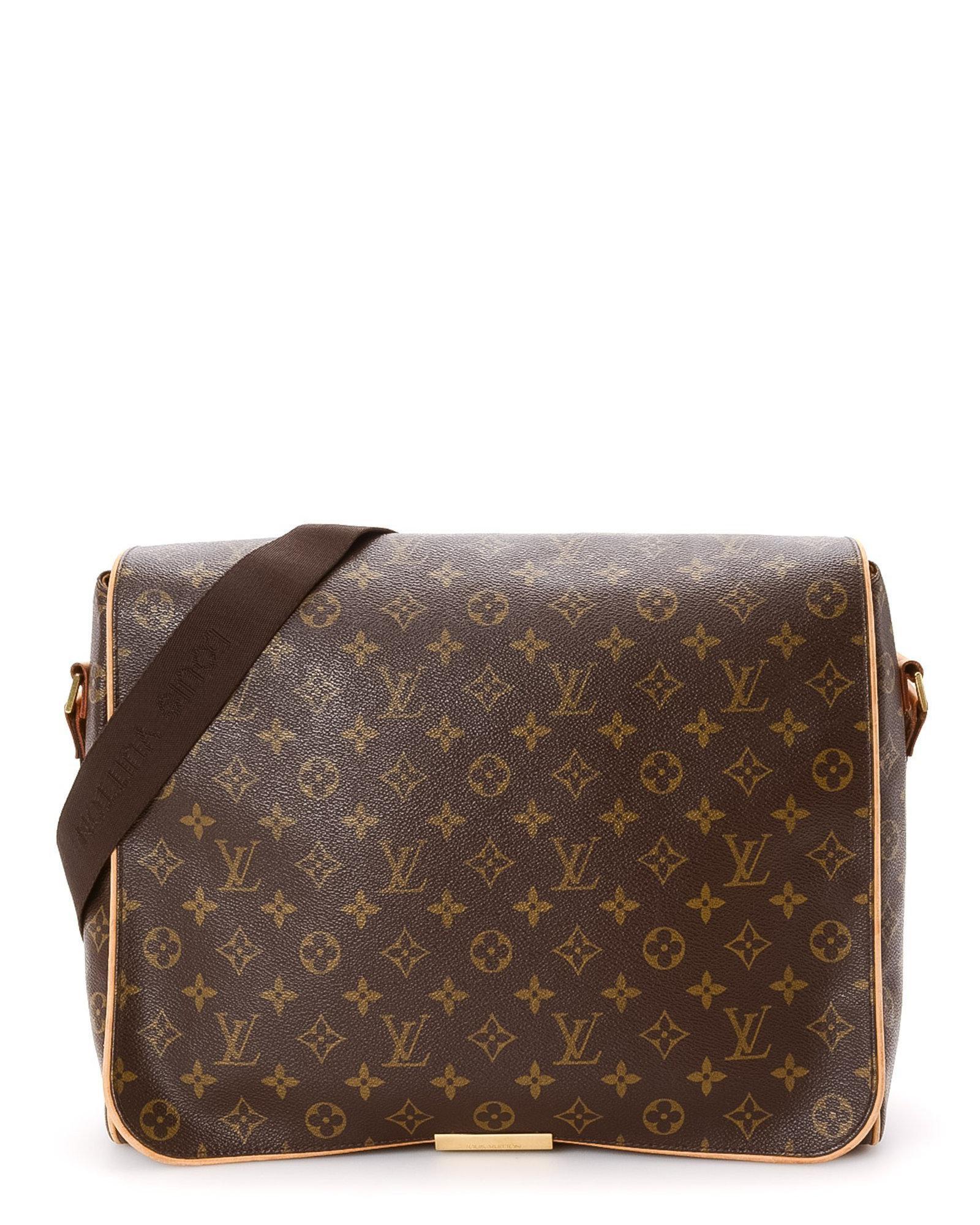 ac8b90aa687d Lyst - Louis Vuitton Abbesses Monogram Messenger Bag - Vintage in ...