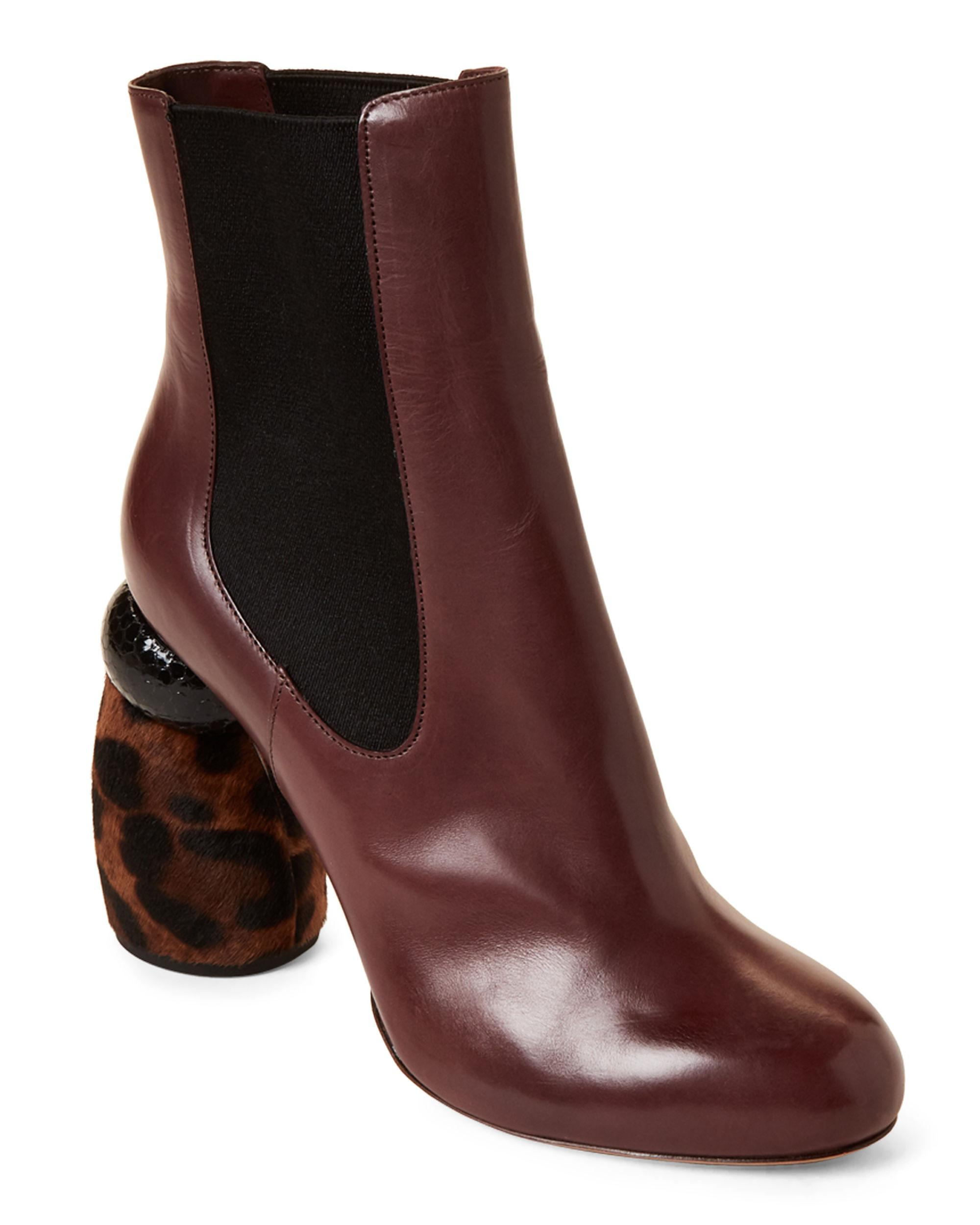 e781cd73ea Dries Van Noten. Women s Brown Bordeaux Calf Hair Heel Leather Ankle Boots.   720  250 From Century 21. Free shipping ...