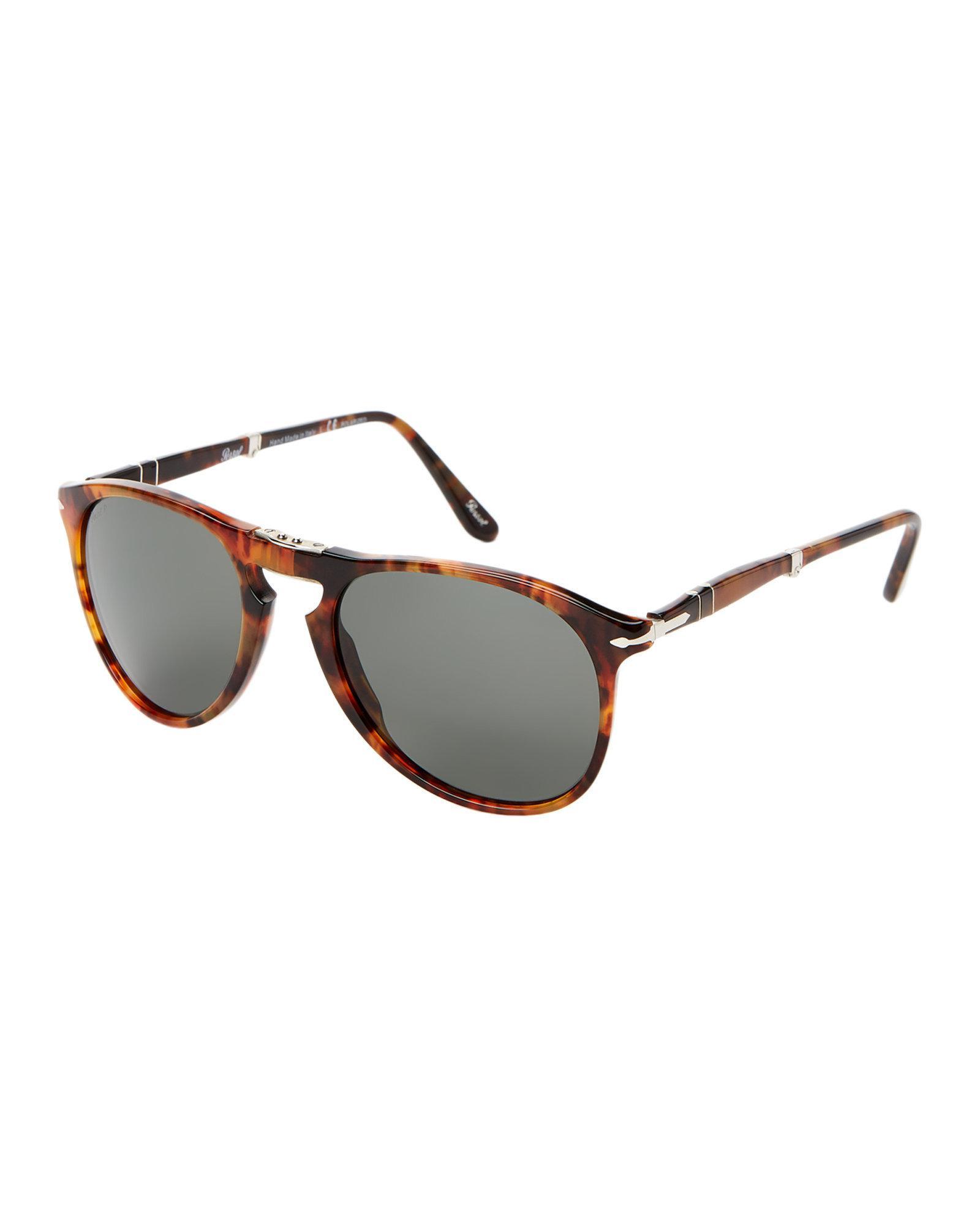 d9249c2bb1 Lyst - Persol Po9714 Caffe Round Polarized Sunglasses