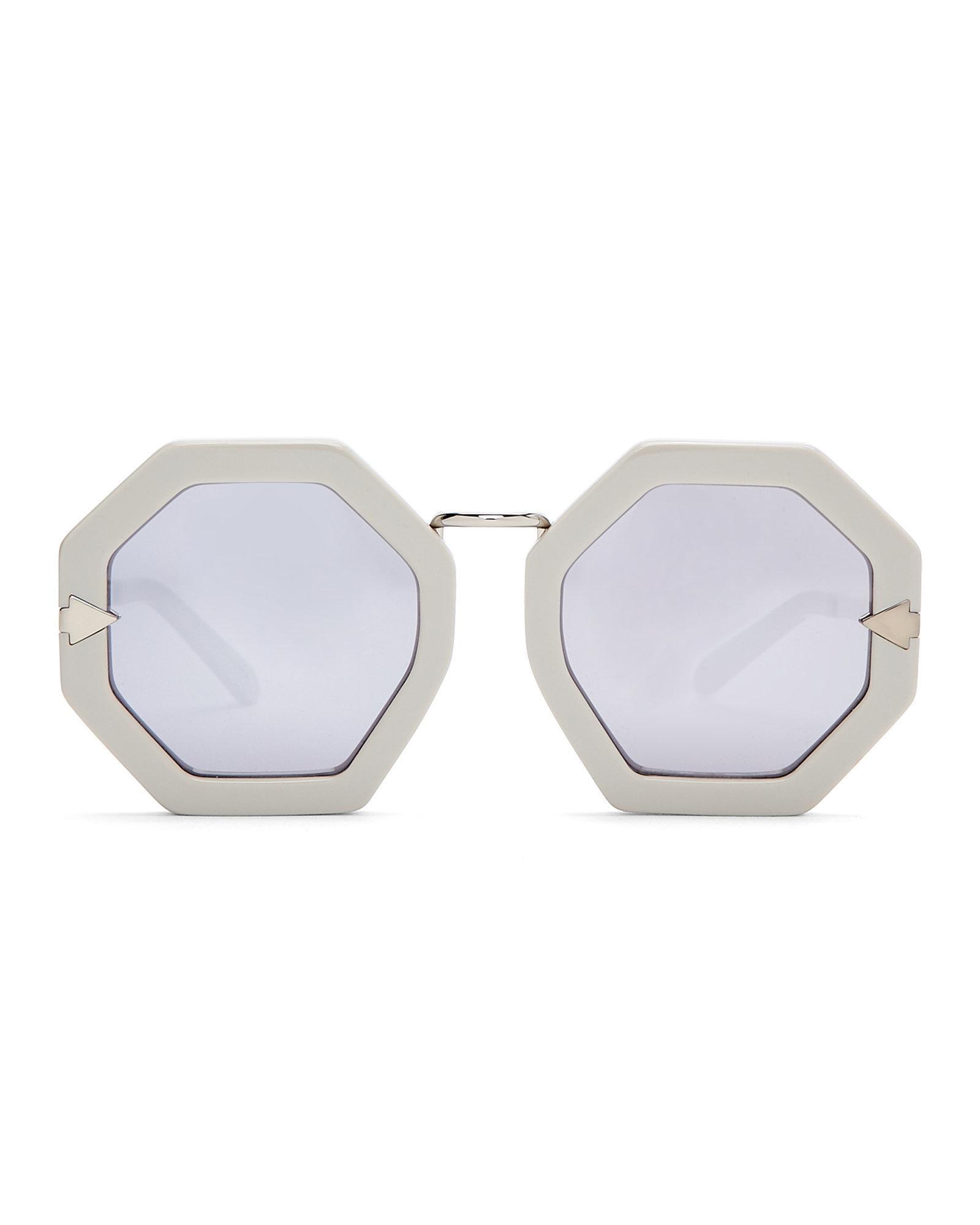 2466e470682 Lyst - Karen Walker Grey Moon Disco Octagonal Sunglasses in Gray