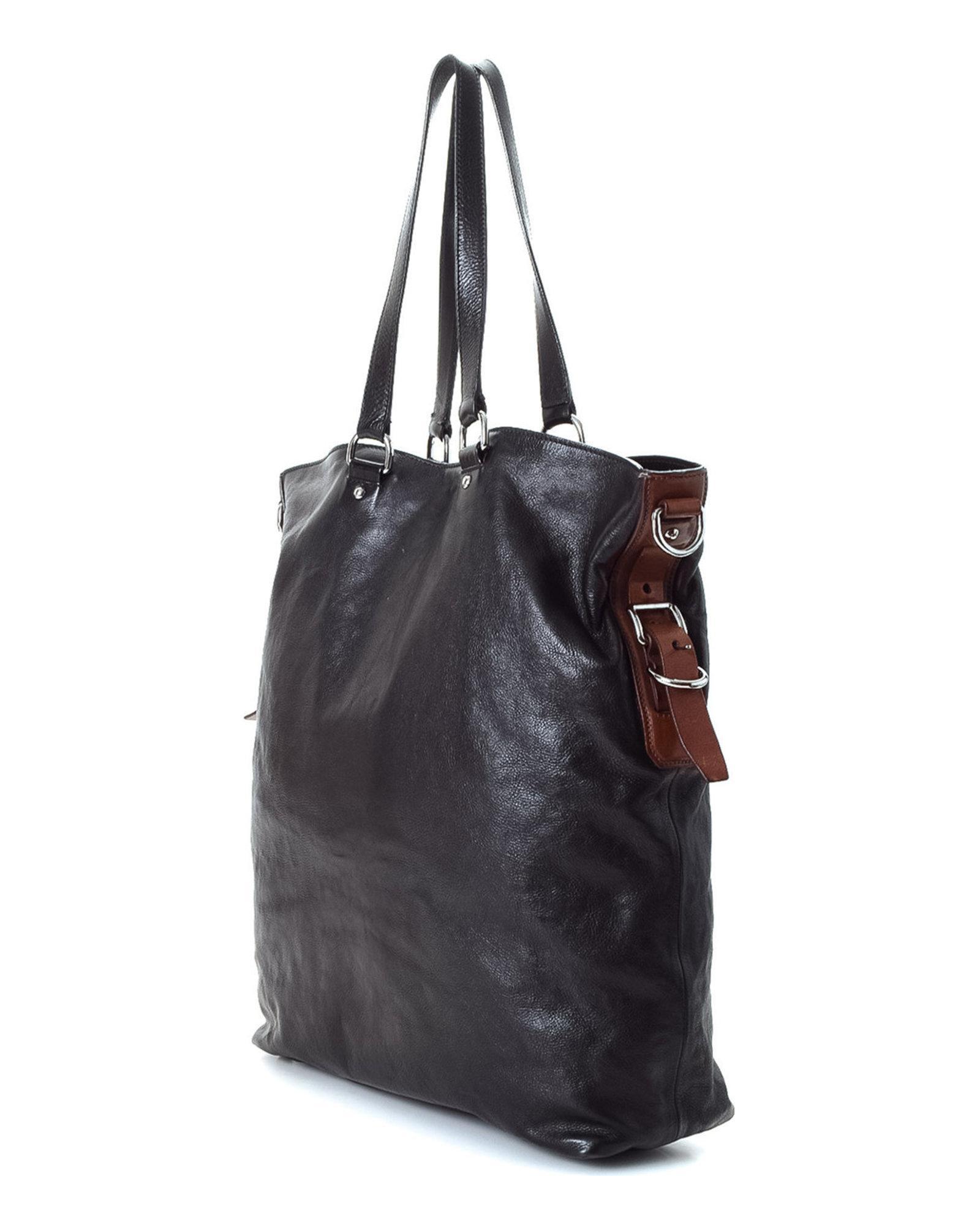 fcc6bec13793 Lyst - Prada Vitello Two Way Tote - Vintage in Black