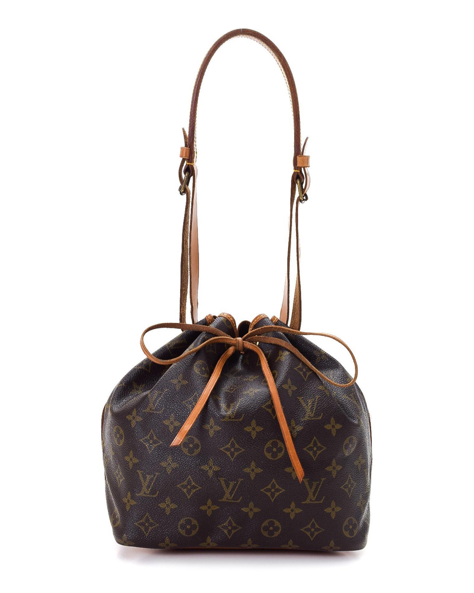 e0ce6a5e177a Lyst - Louis Vuitton Petit Noe Monogram Shoulder Bag - Vintage in Brown