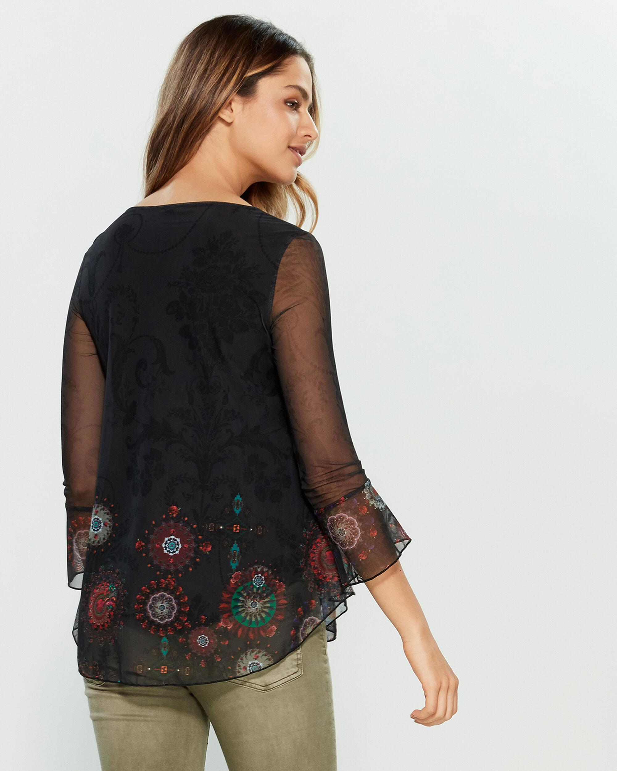 b23b7485e Desigual Brule Floral Top in Black - Lyst