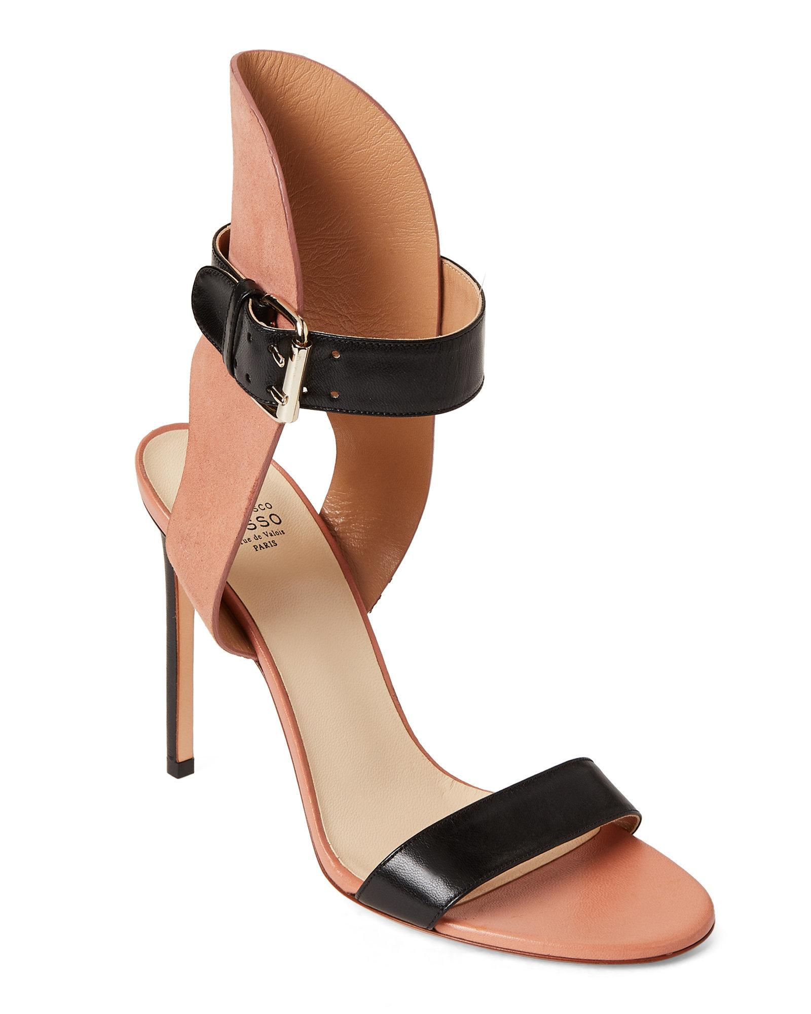 3788d9f36251 Lyst - Francesco Russo Leather Ankle Strap Sandals in Black
