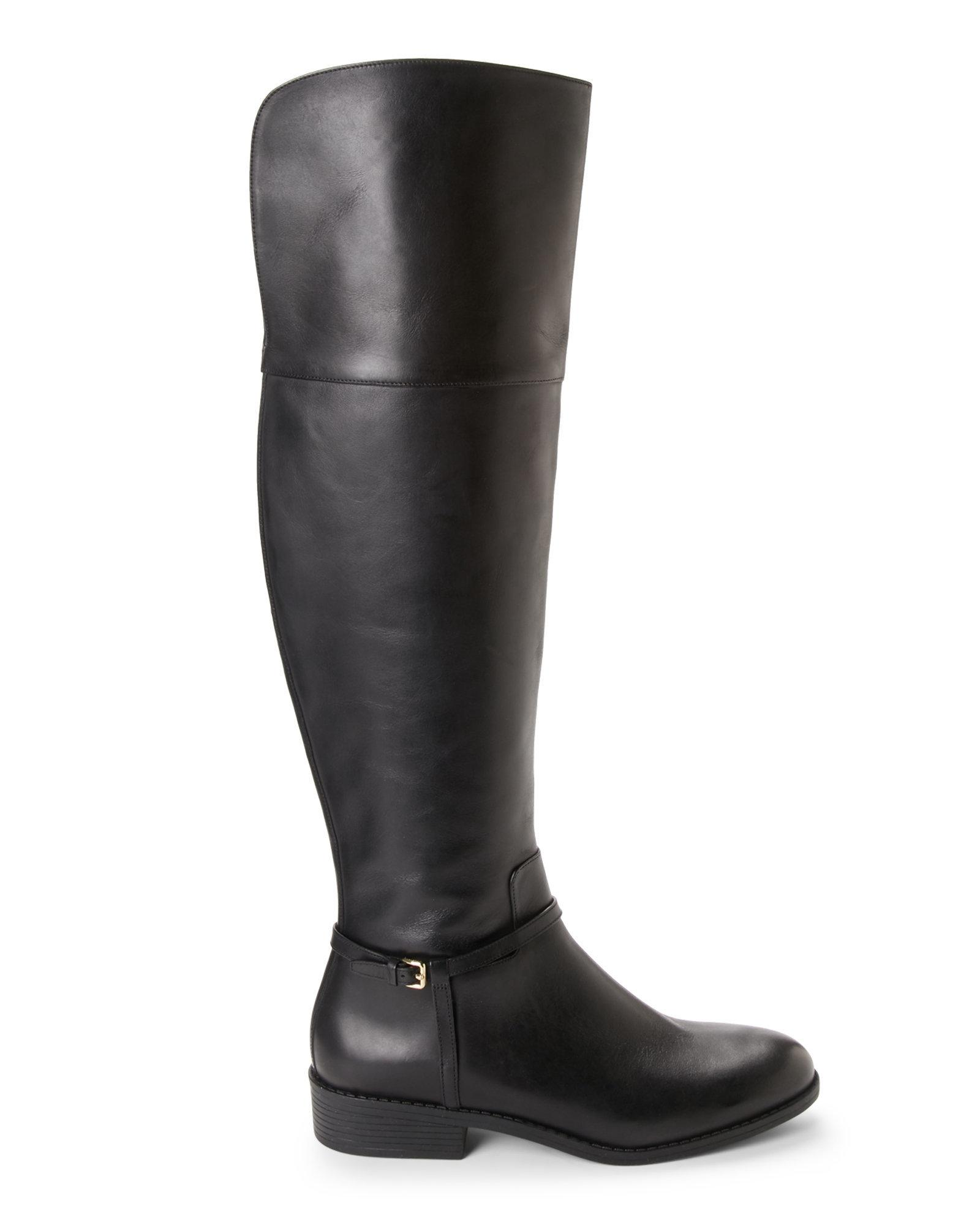 b7ad2d88cc2 Cole Haan Black Valentia Over The Knee Boots in Black - Lyst