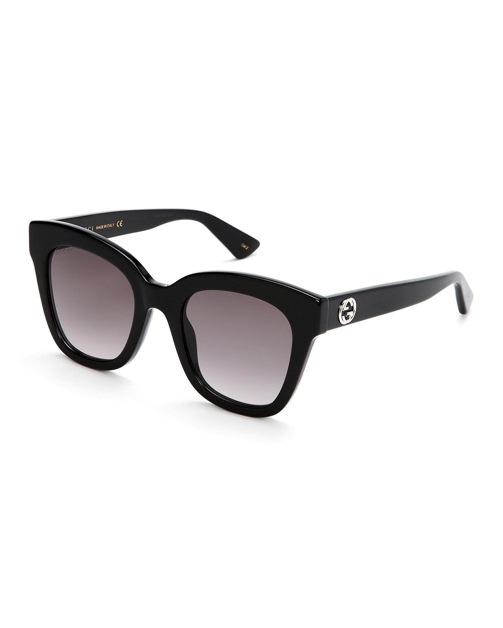 3d2dc9a9e9c81 Gucci Gg0029S Black Cat Eye Sunglasses in Black - Lyst