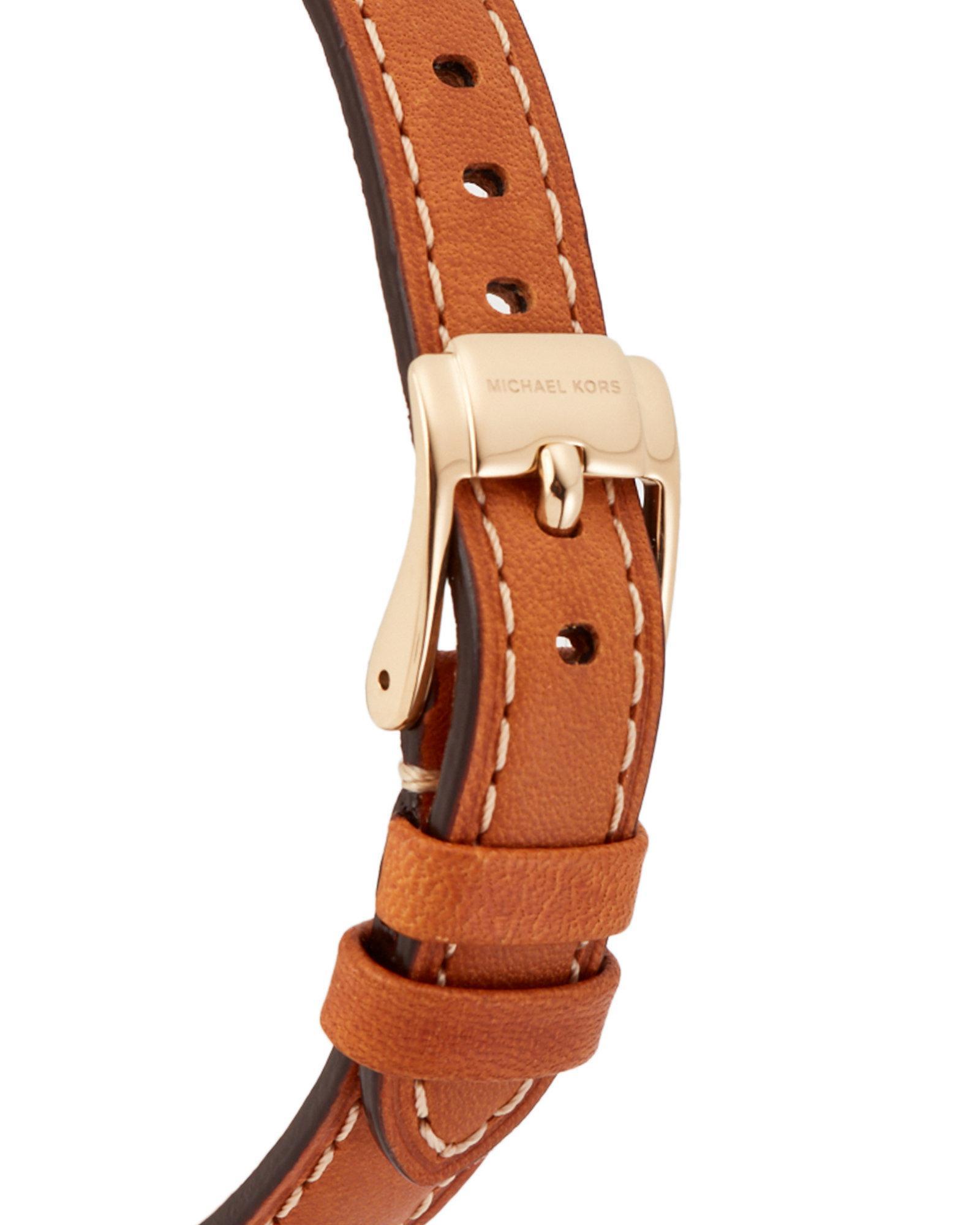 8221a14b1dd75 Lyst - Michael Kors Mk2326 Gold-tone Slim Runway Watch