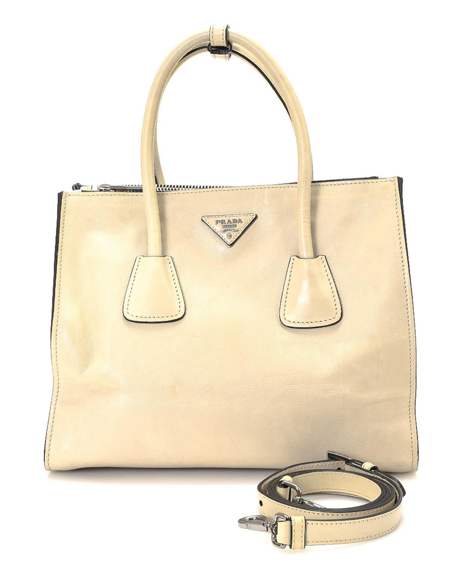 22fd79d4bc7 Lyst - Prada Two-way Leather Handbag - Vintage in Natural