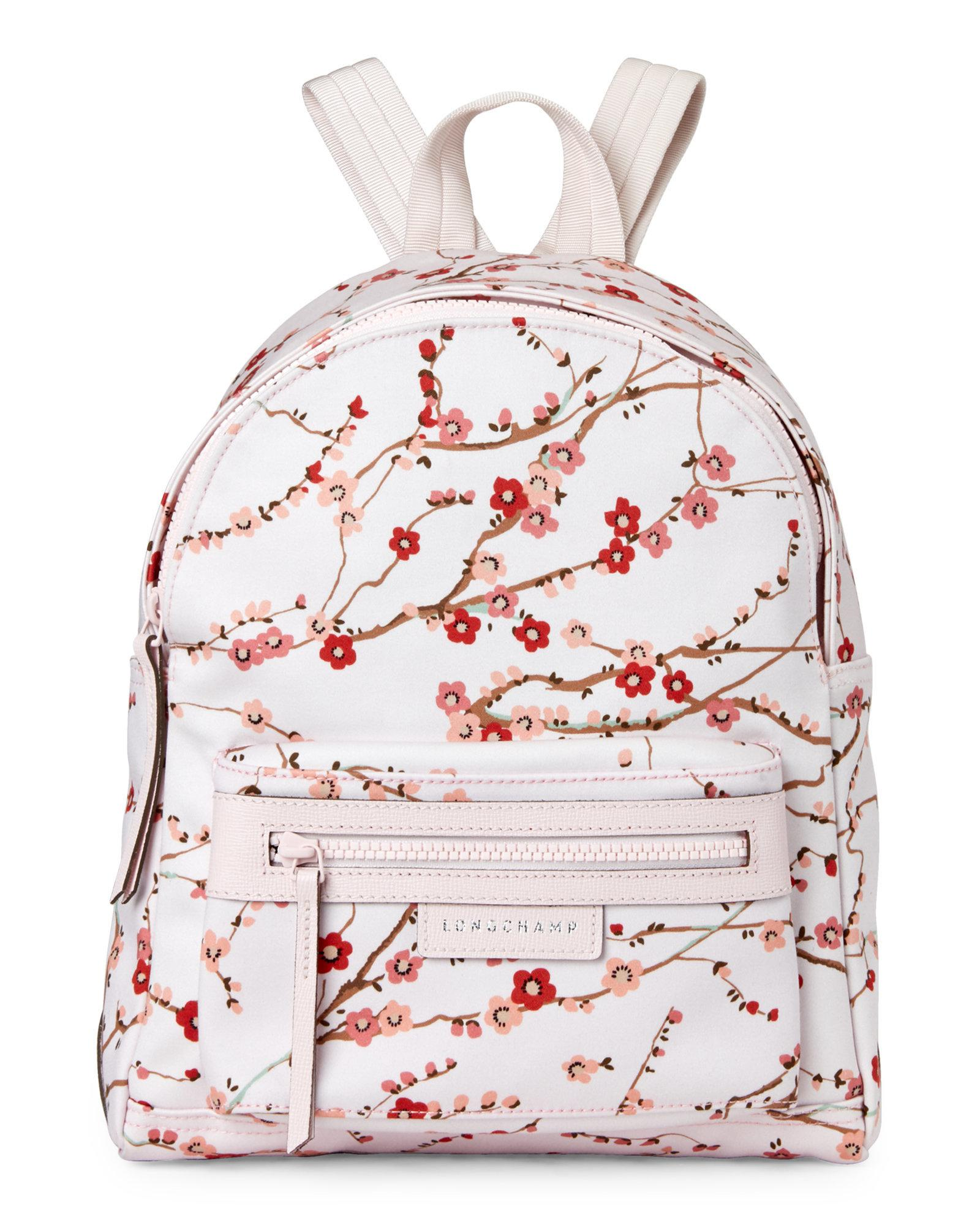 Lyst - Longchamp Pink Le Pliage Néo Sakura Small Nylon Backpack in Pink 448a8008fc8d3