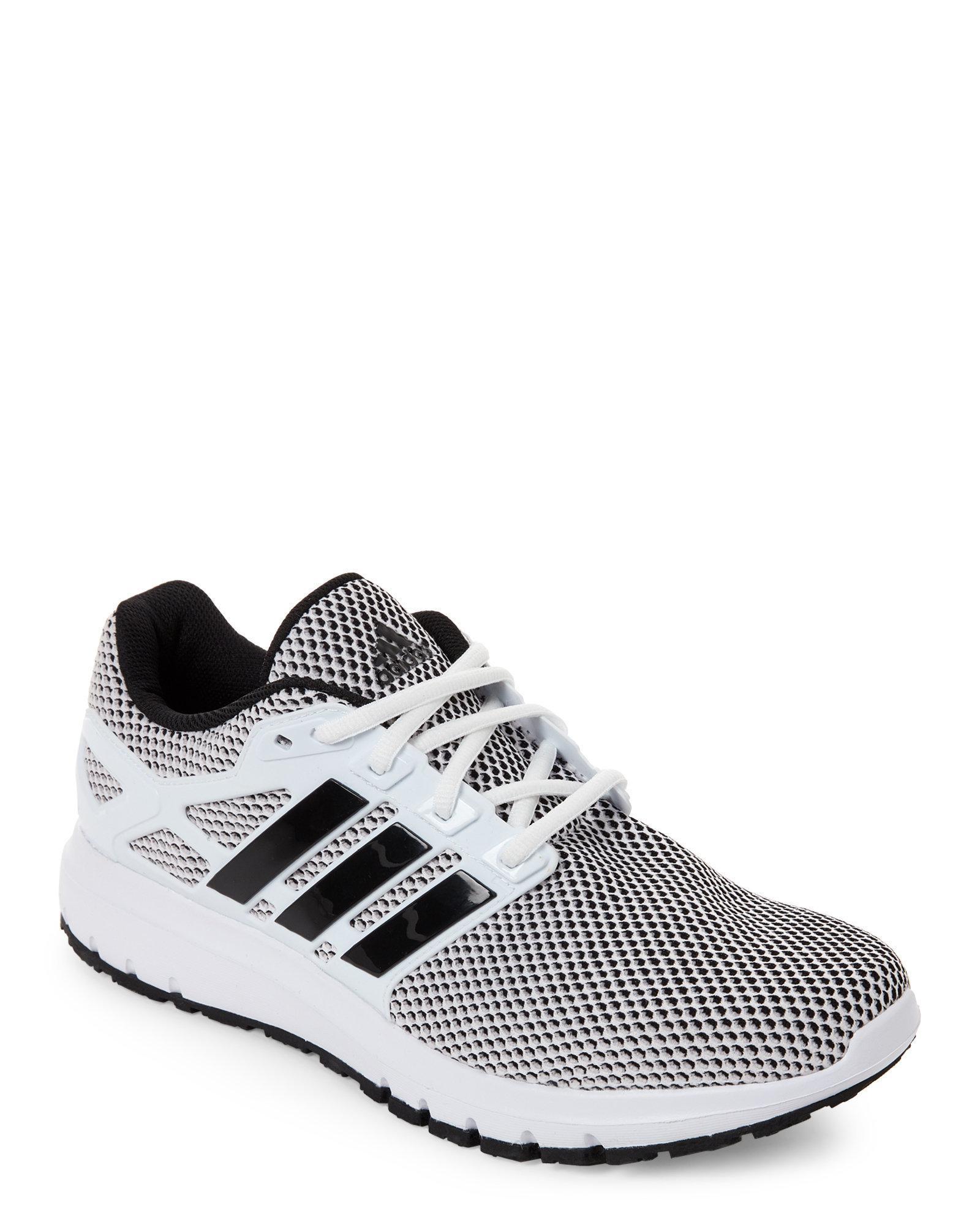 Lyst Adidas White & Black Energy Cloud Running Sneakers in Black