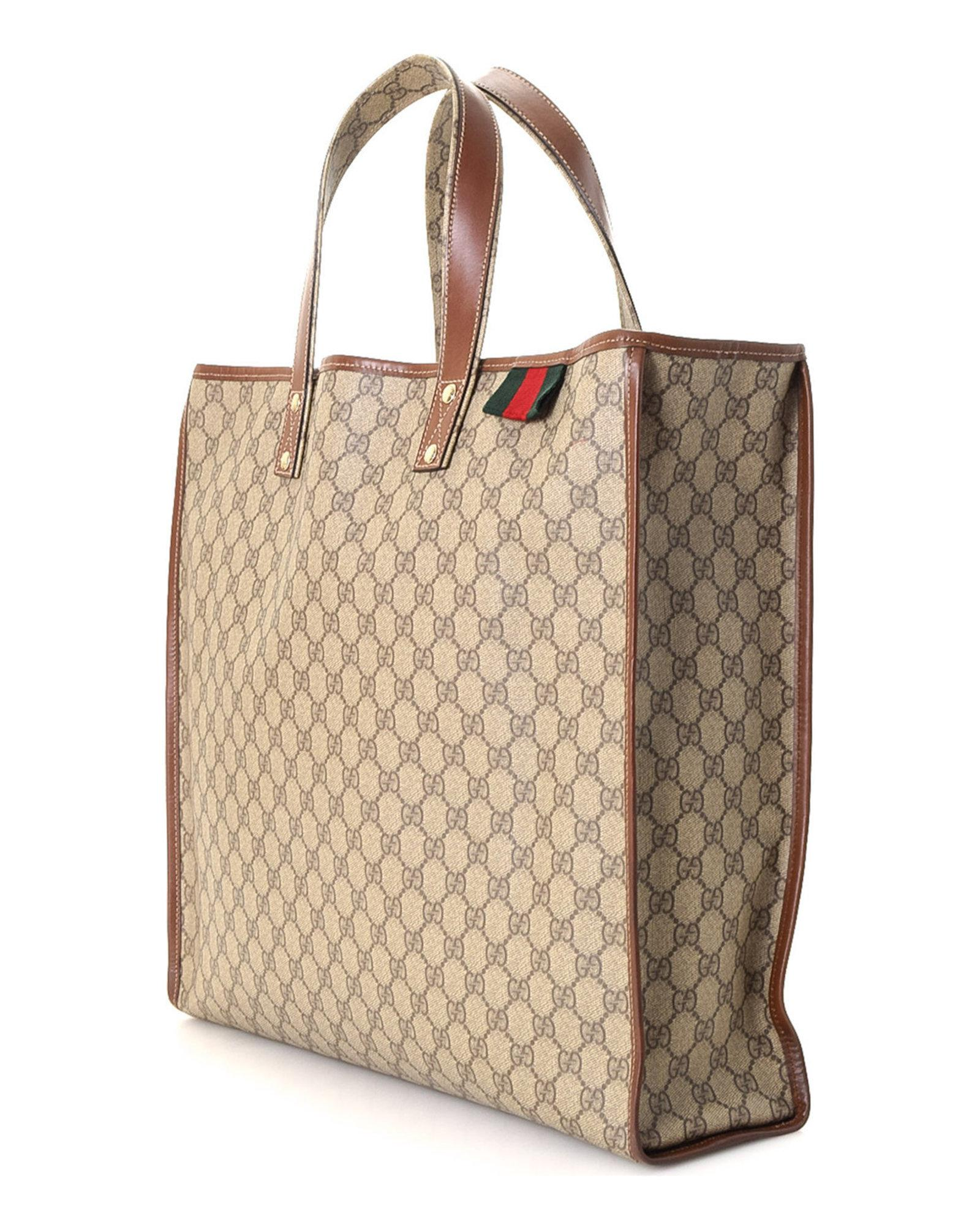 64d5d14382a1 Lyst - Gucci Supreme Tote - Vintage in Natural