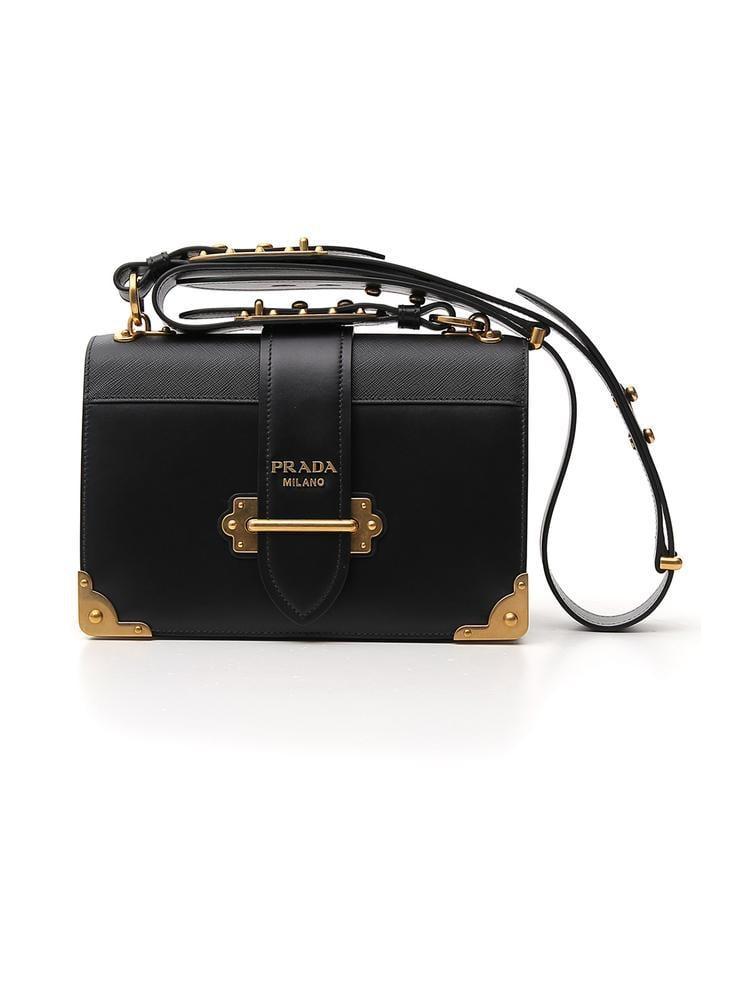 06fb253c9c5f Lyst - Prada Cahier Shoulder Bag in Black