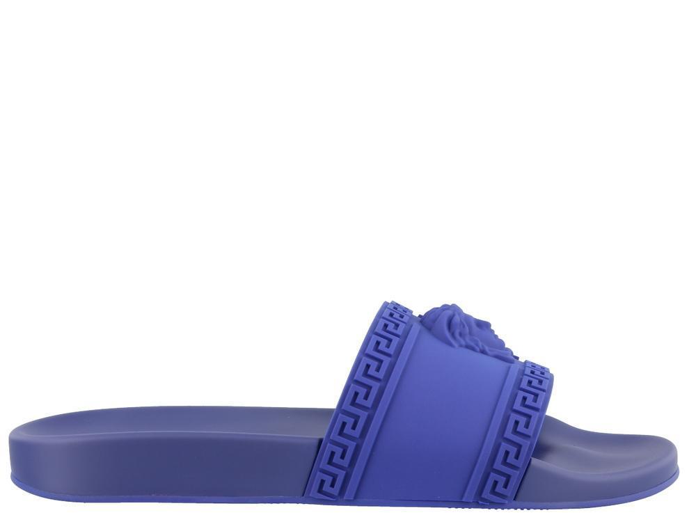 9d398ba612d4 Lyst - Versace Medusa Slides in Blue for Men - Save 41%