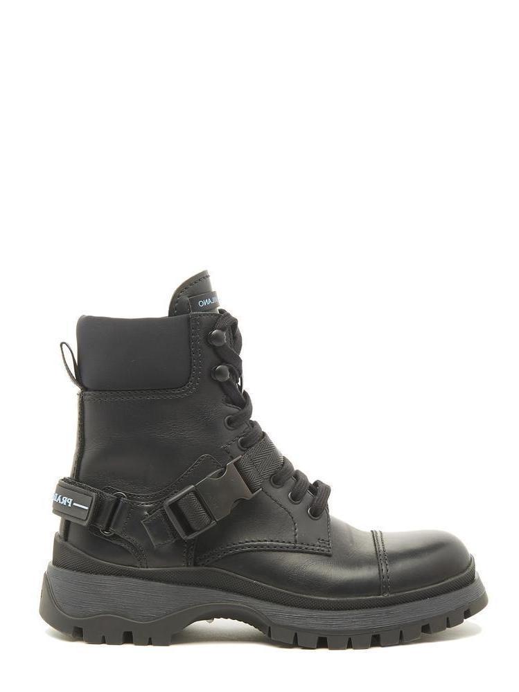 ec90b014d8d Prada Lace Up Combat Boots in Black for Men - Lyst