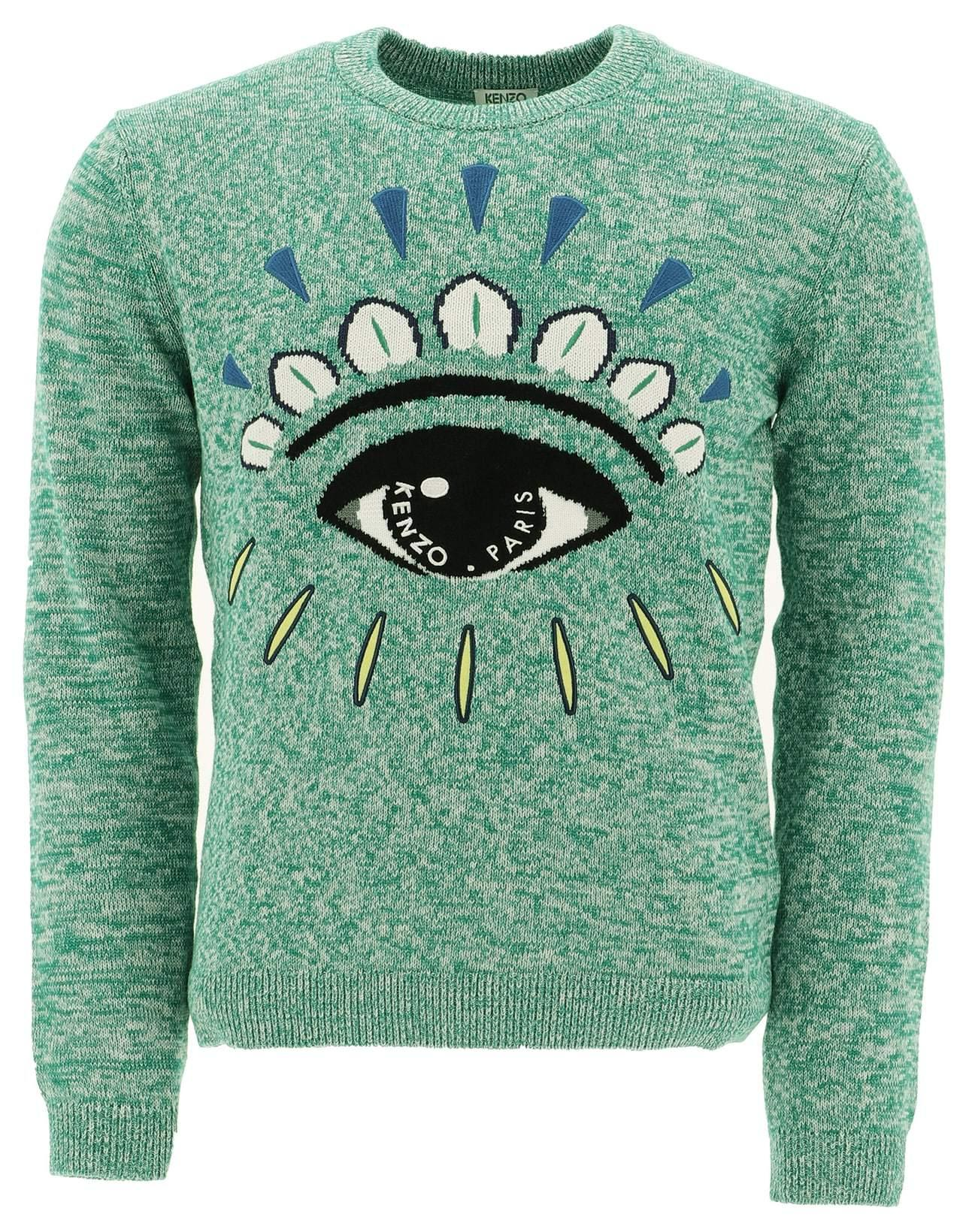 b9a5cdfa KENZO Eye Embroidered Jumper in Green for Men - Lyst