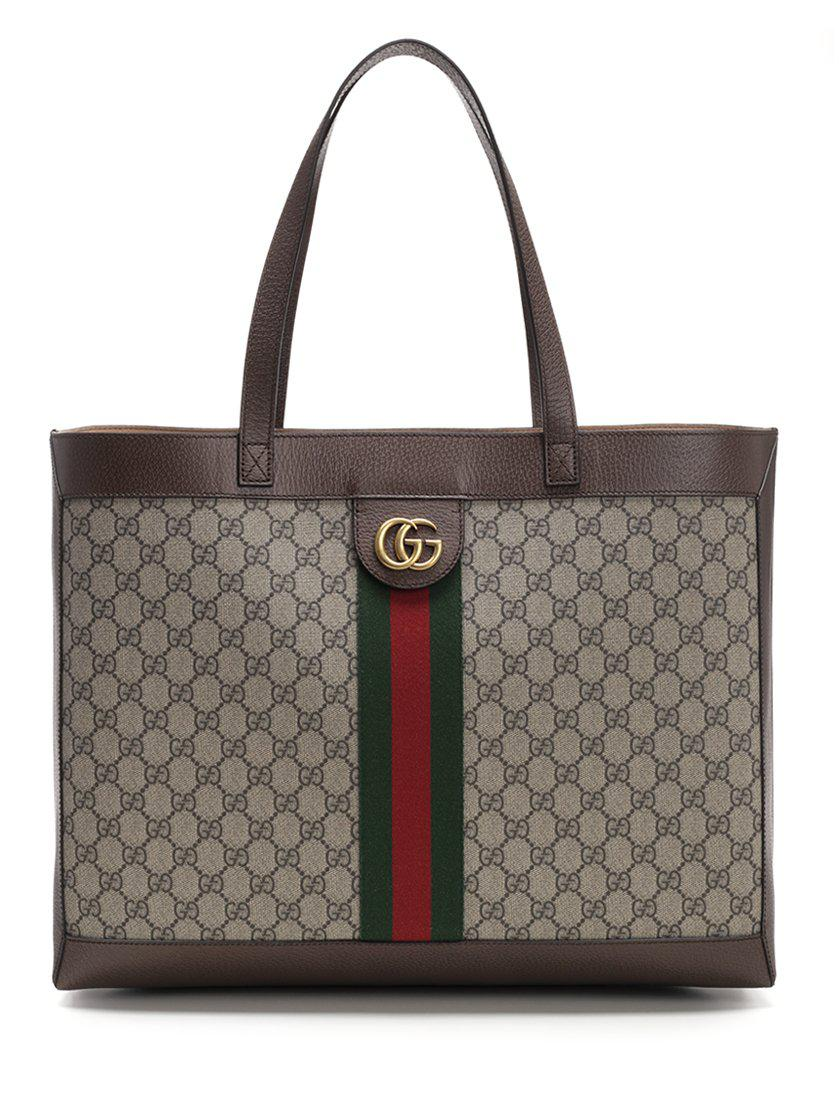 223fe0fef493 Gucci Ophidia Checkered Tote Bag in Natural for Men - Lyst
