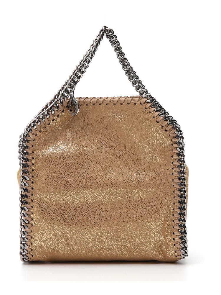 9d257de5a3 Stella Mccartney Mini Falabella Tote Bag in Metallic - Save 18.75 ...